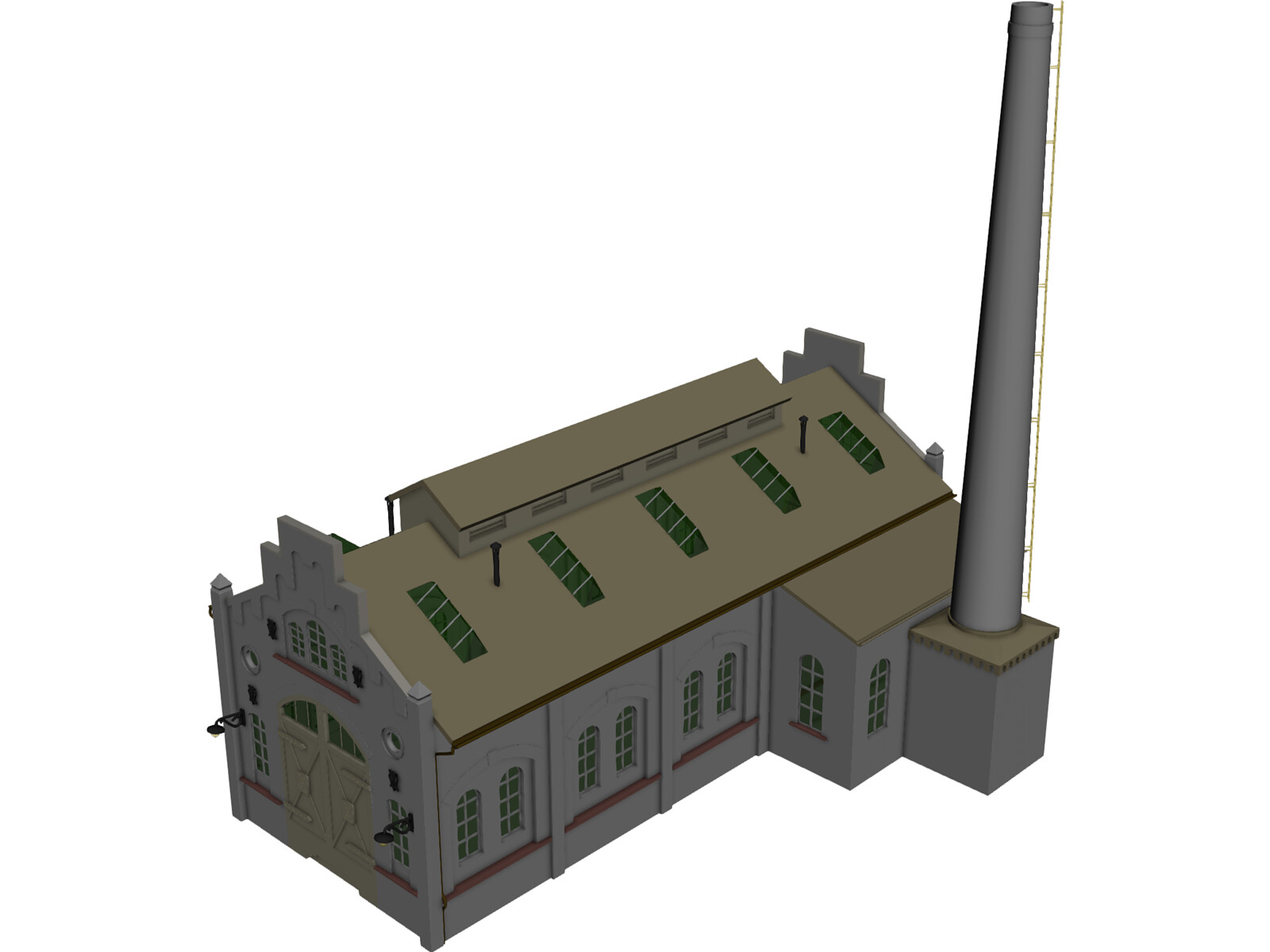 Train Repair Station 3D Model