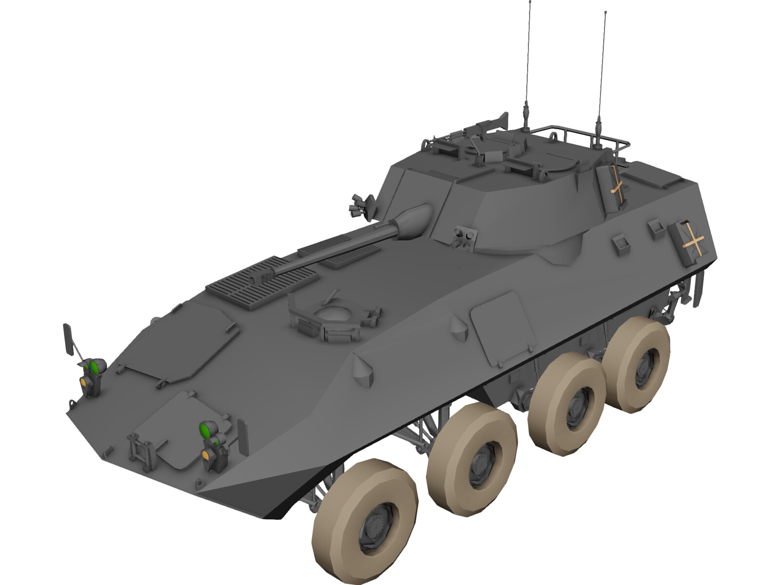 Lav 25 Piranha 3D Model