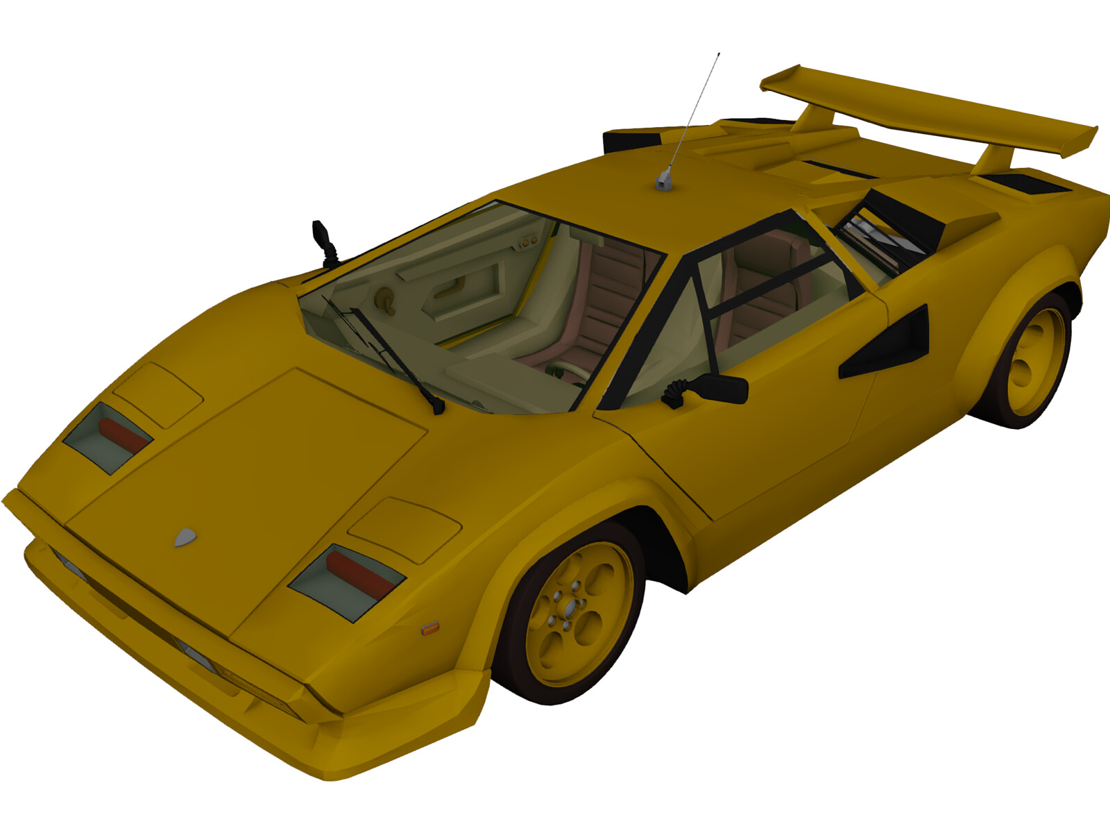 lamborghini countach 1978 3d model 3d cad browser. Black Bedroom Furniture Sets. Home Design Ideas