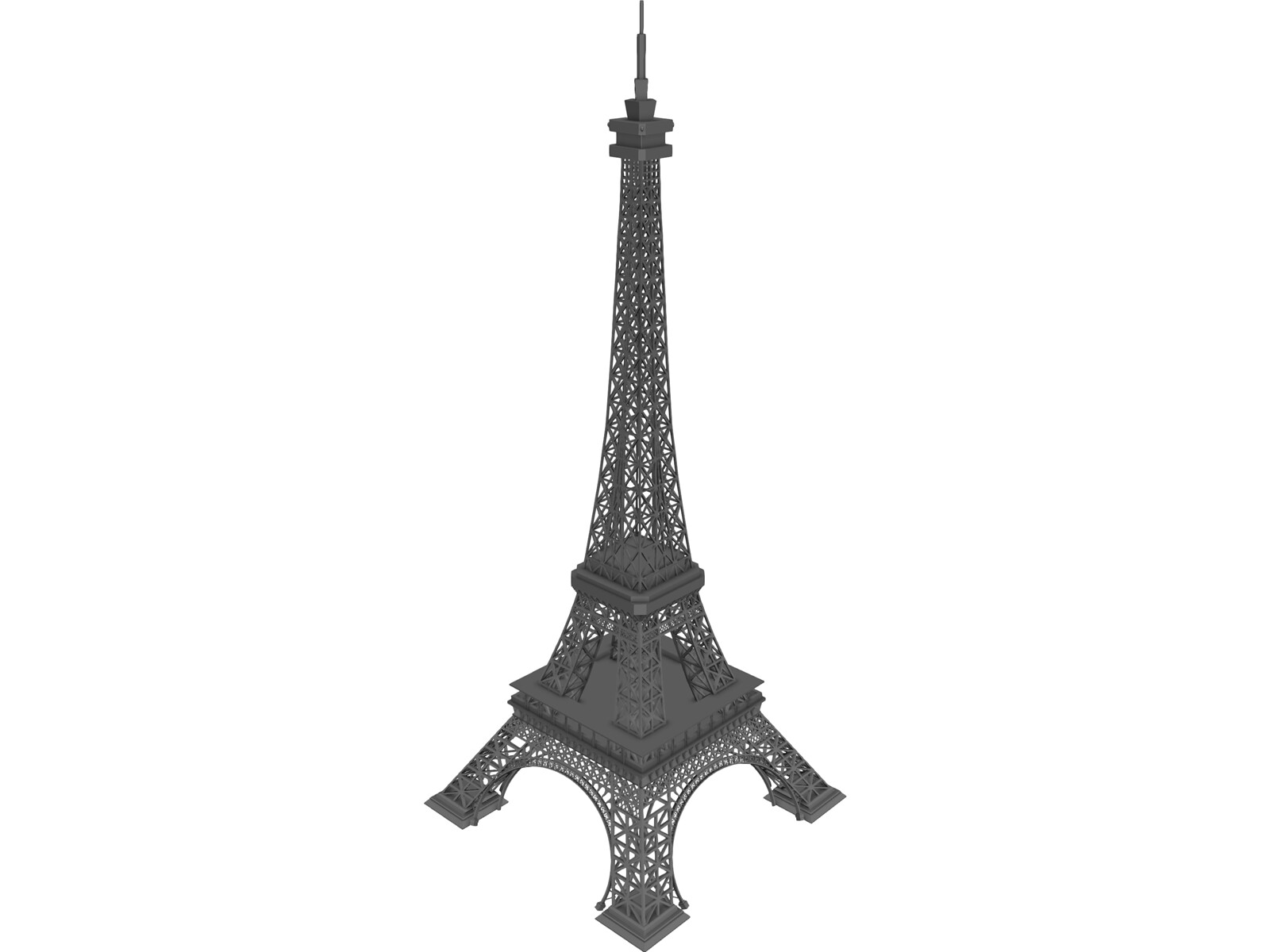 how to draw the eiffel tower in 3d