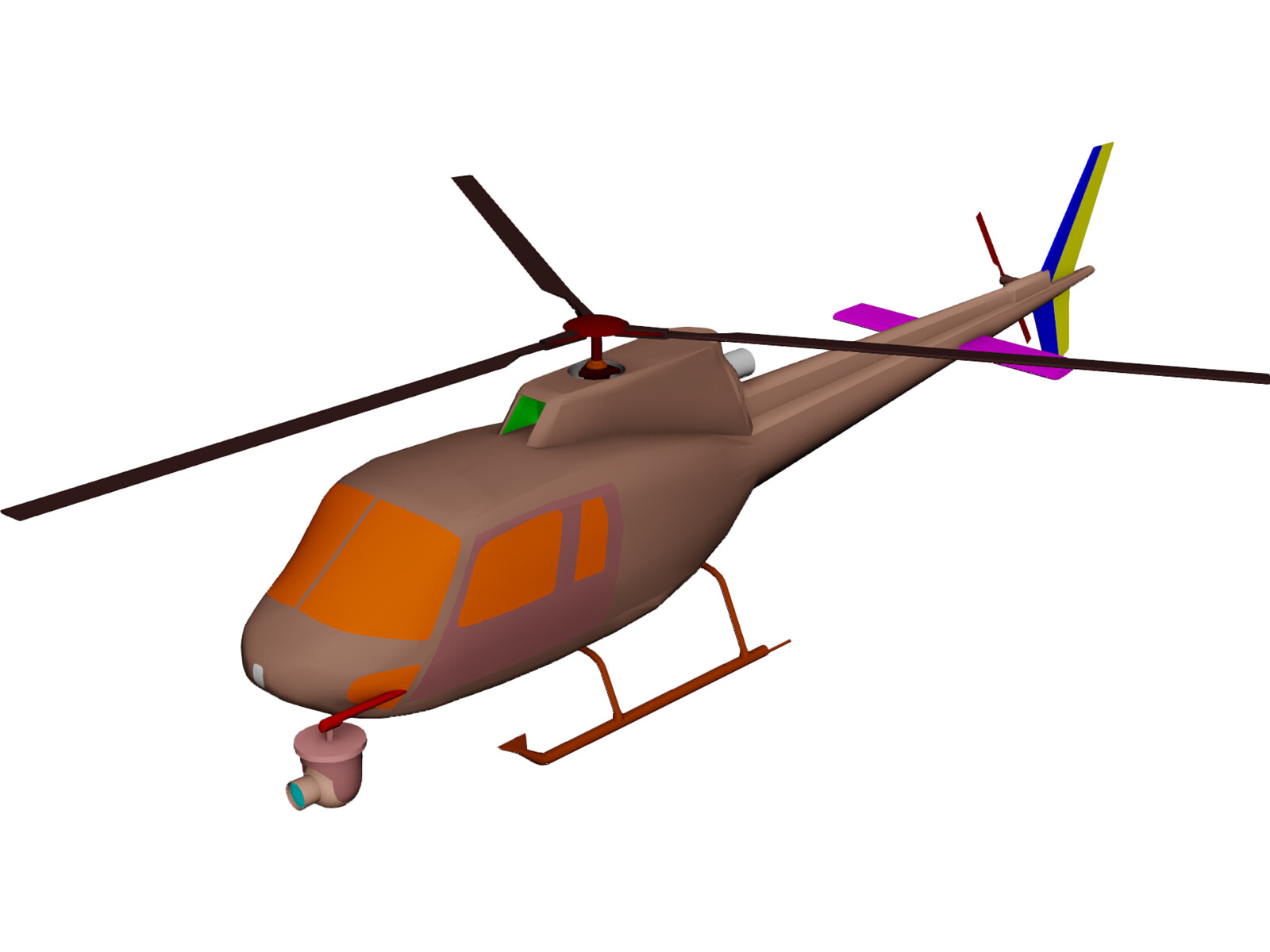 Eurocopter AS-350 Ecureuil 3D Model