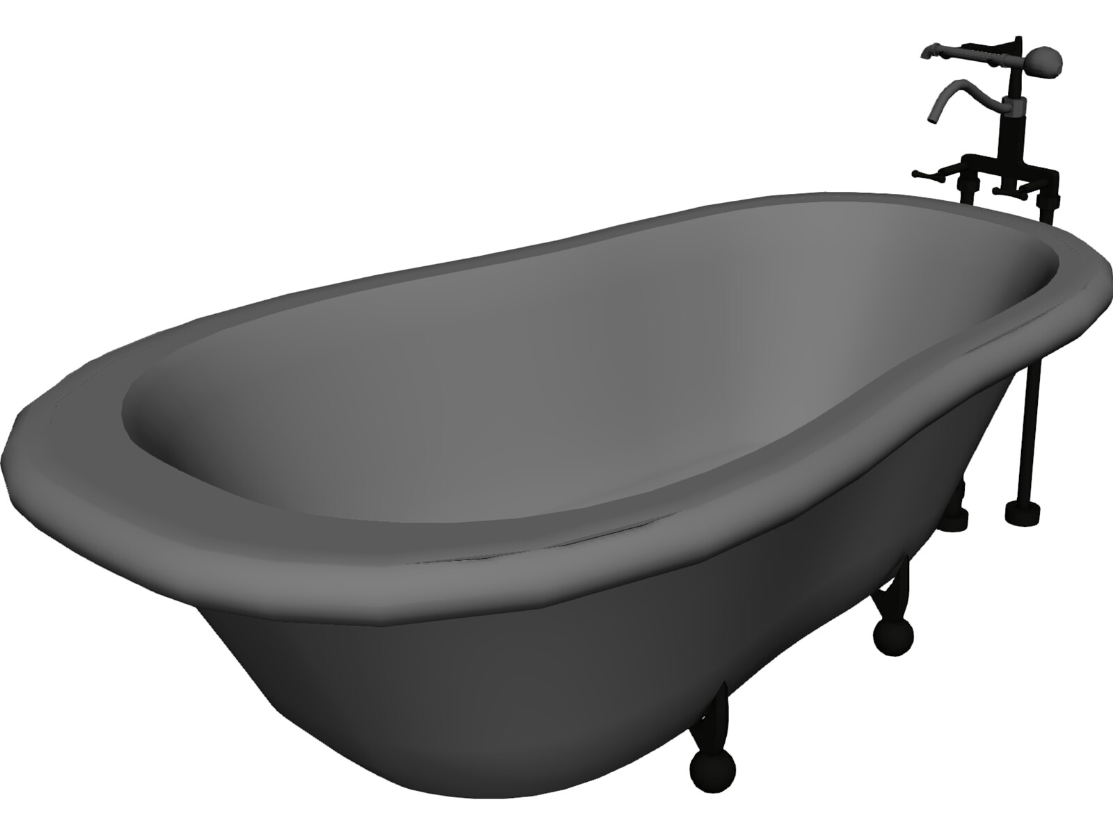 Bathtub 3D Model - 3D CAD Browser
