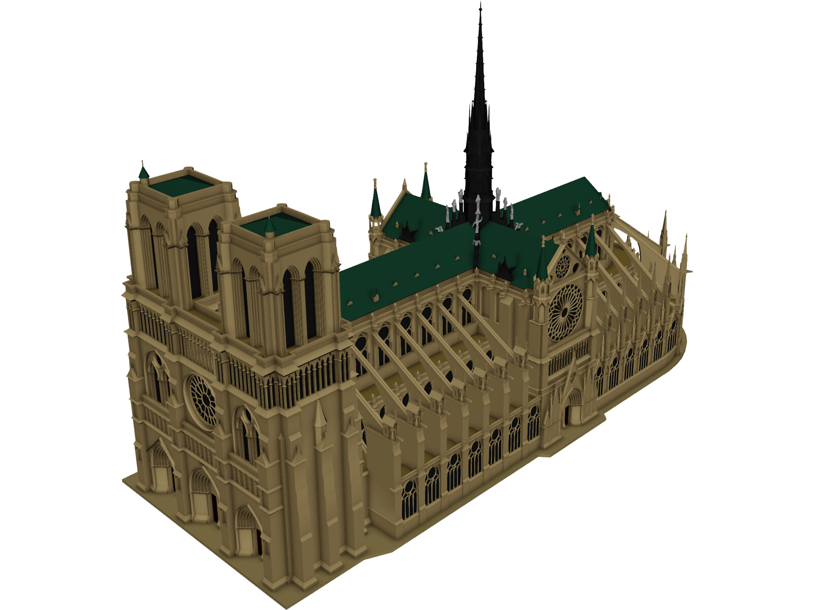 Notre Dame Cathedral Planta Cathedral Notre Dame 3d Model