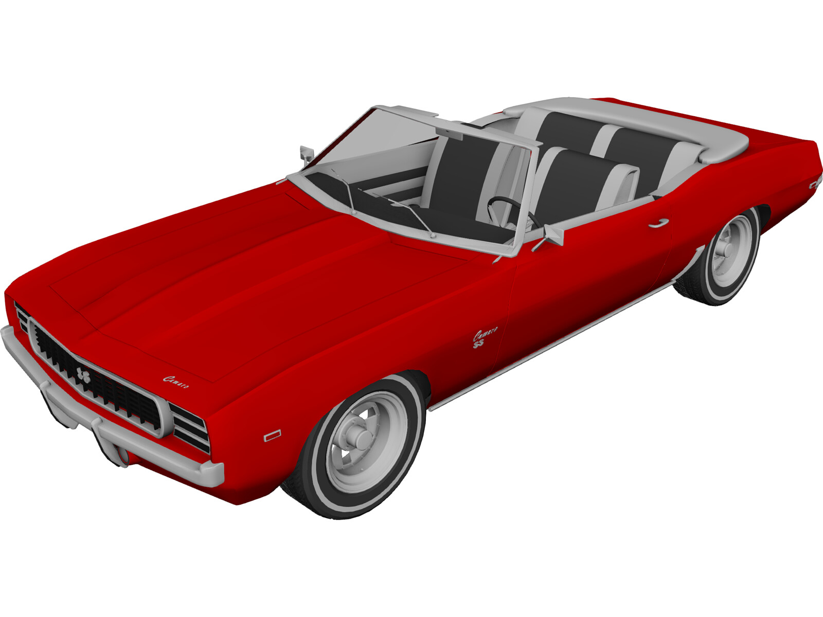 Chevrolet Camaro SS (1969) 3D Model