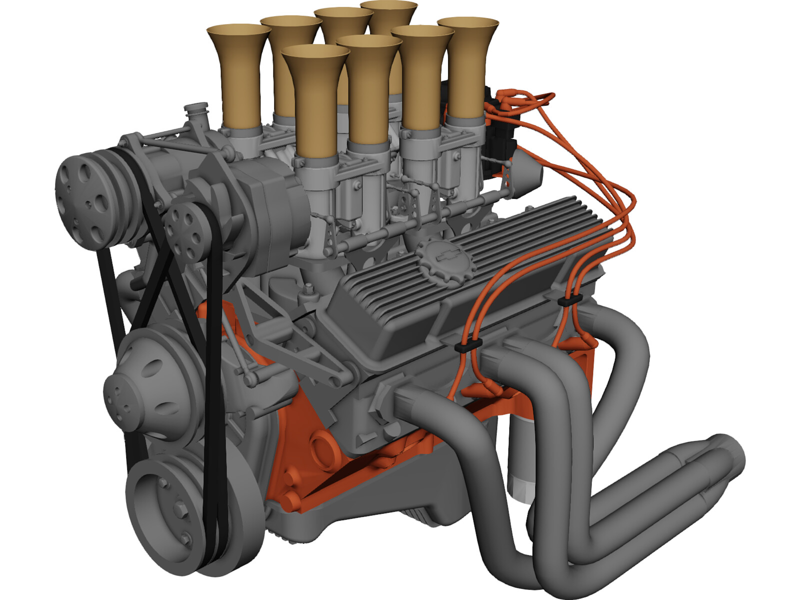 Engine Chevrolet Small Block 3D Model