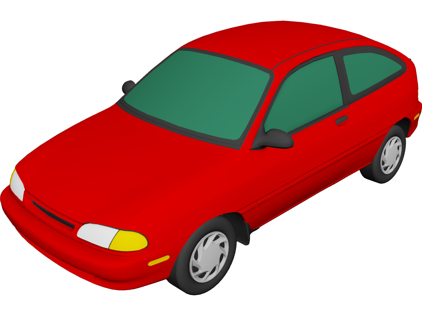 Ford Aspire (1995) 3D Model