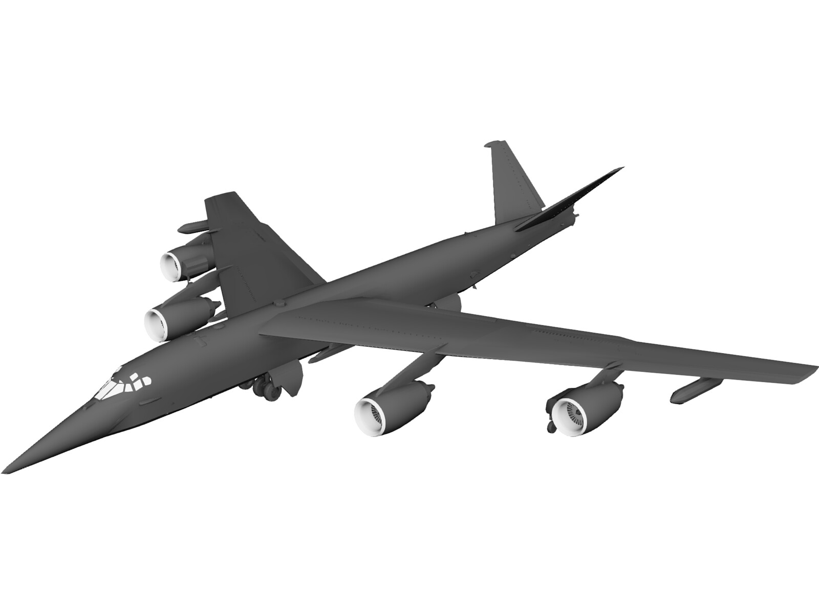EB-52 Old Dog 3D Model