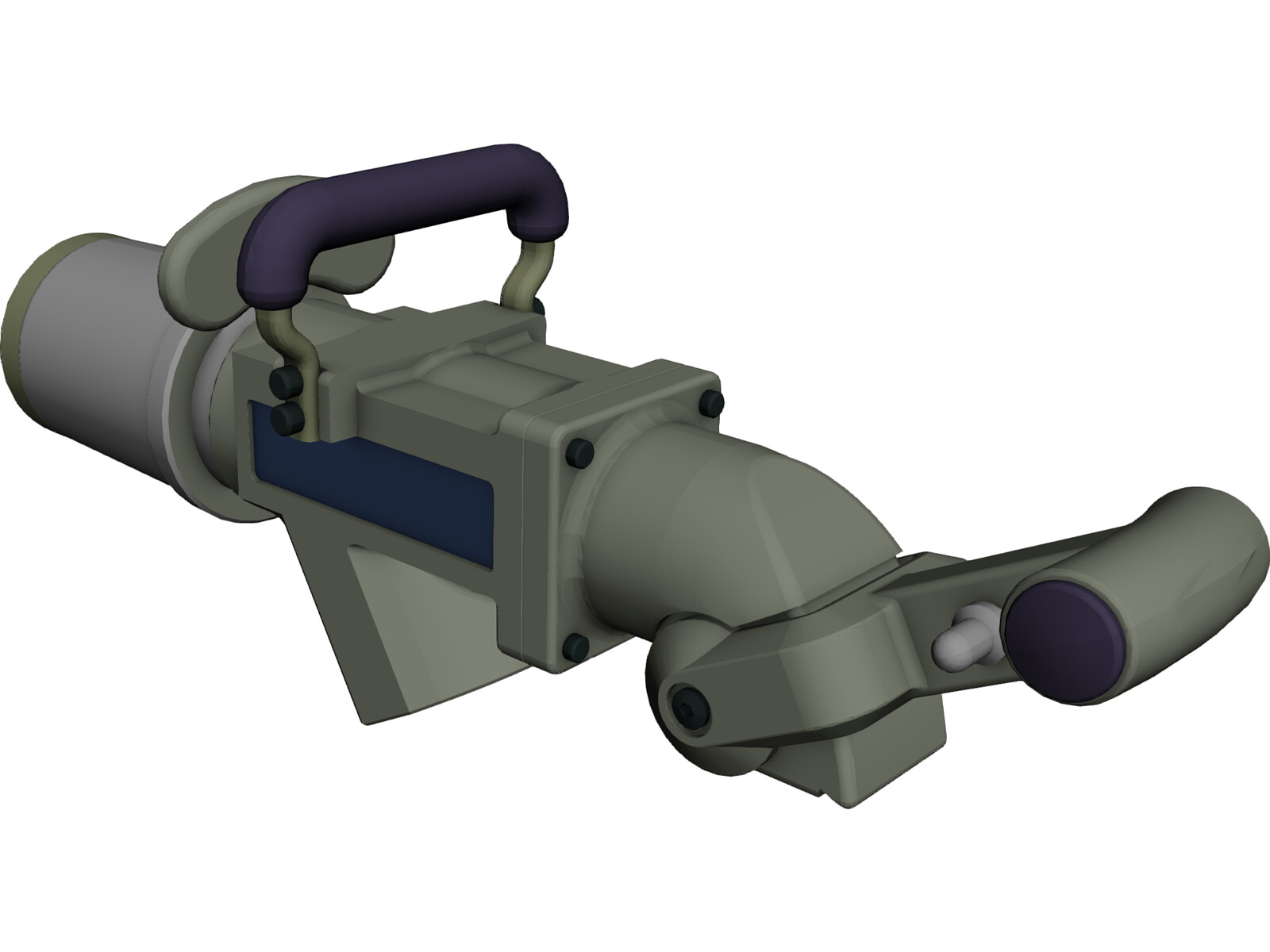 Large Refuelling Nozzle 3D Model
