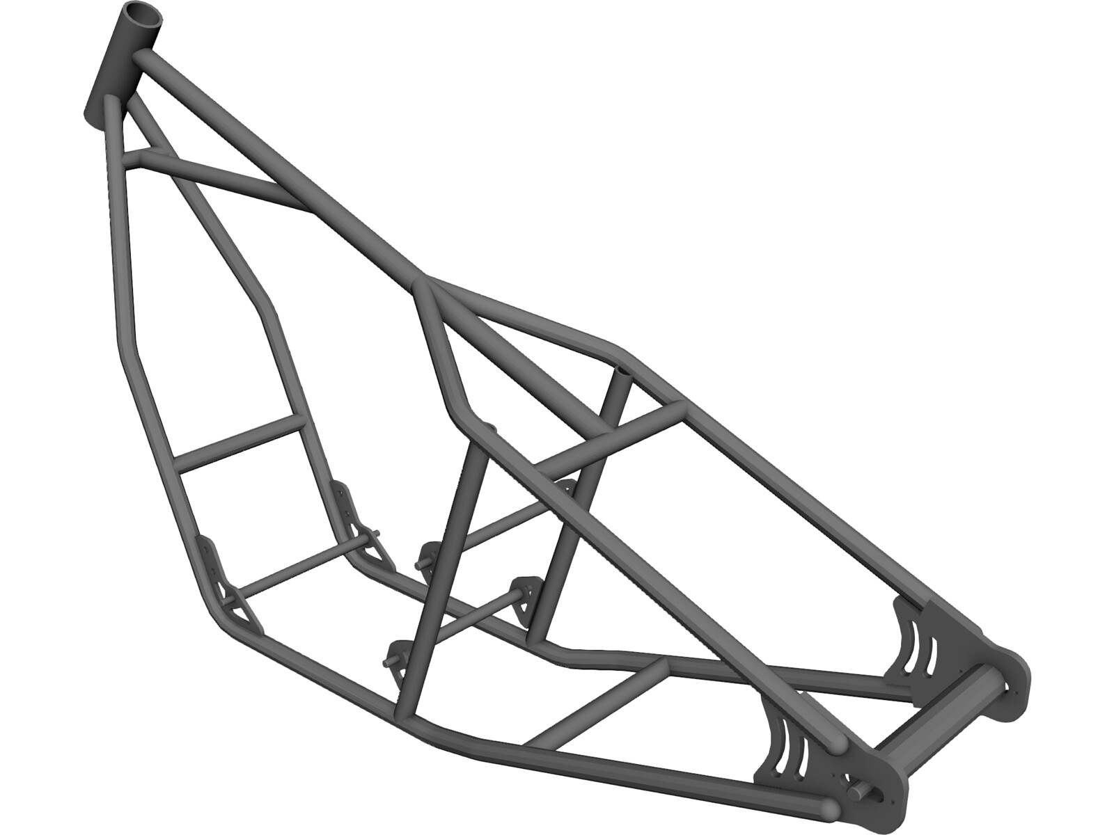 Honda CB750 Motorcycle Frame 3D Model - 3D CAD Browser
