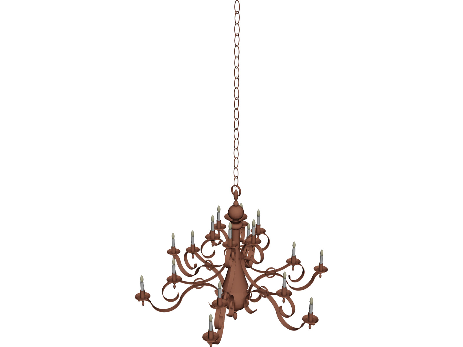 Bronze Chandelier 3D Model - 3D CAD Browser