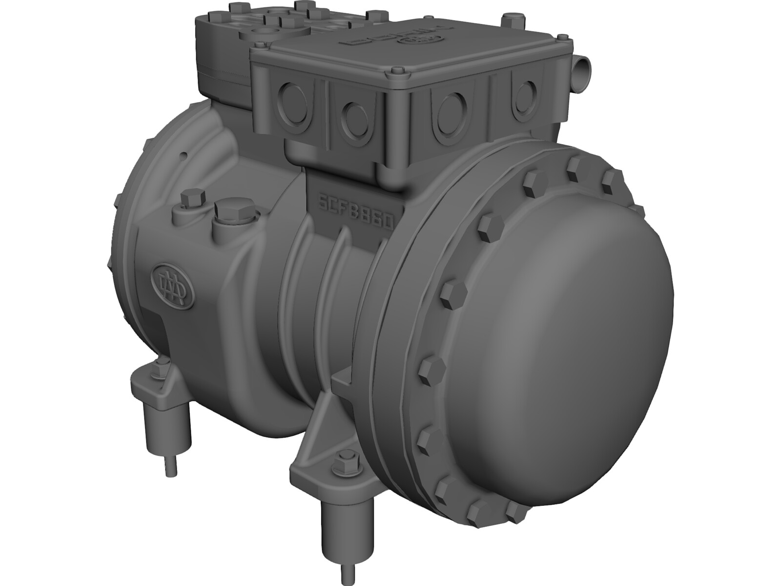 Dorin SE053 Compressor 3D Model