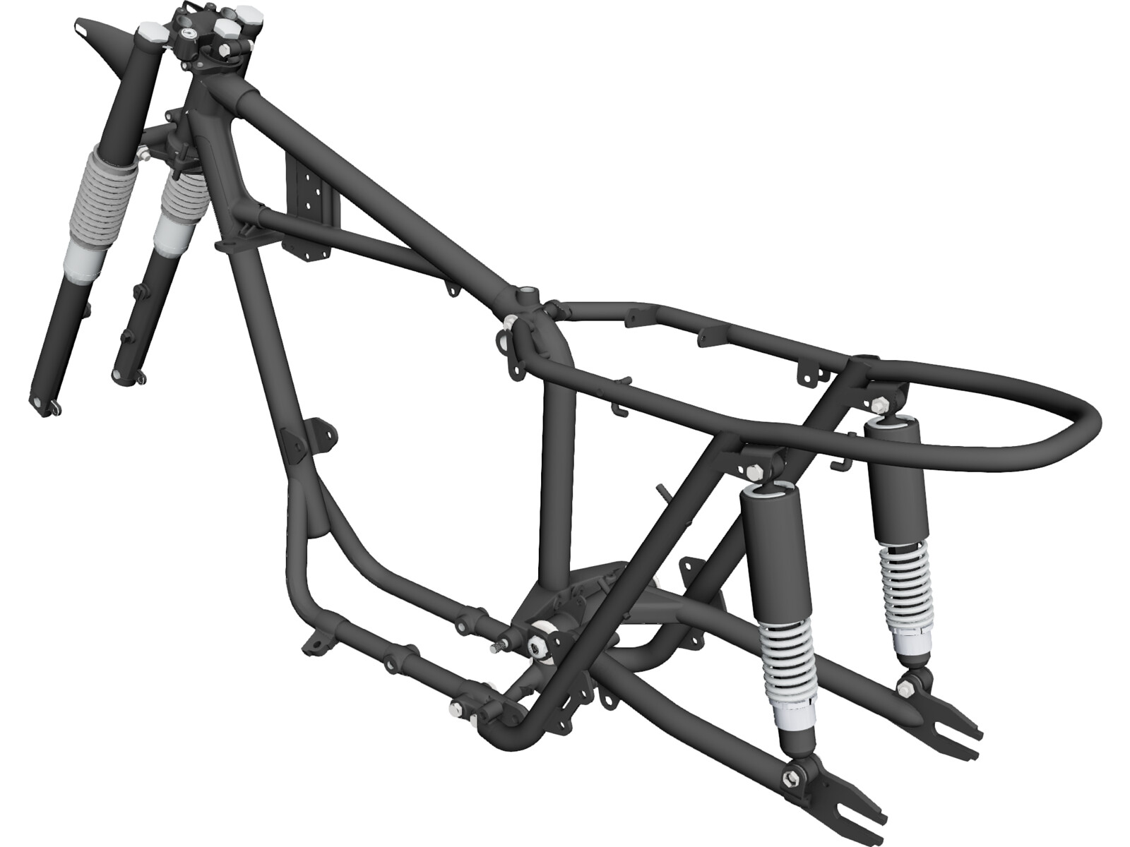 triumph t120 motorcycle frame 1968 3d model - Motorcycle Frame