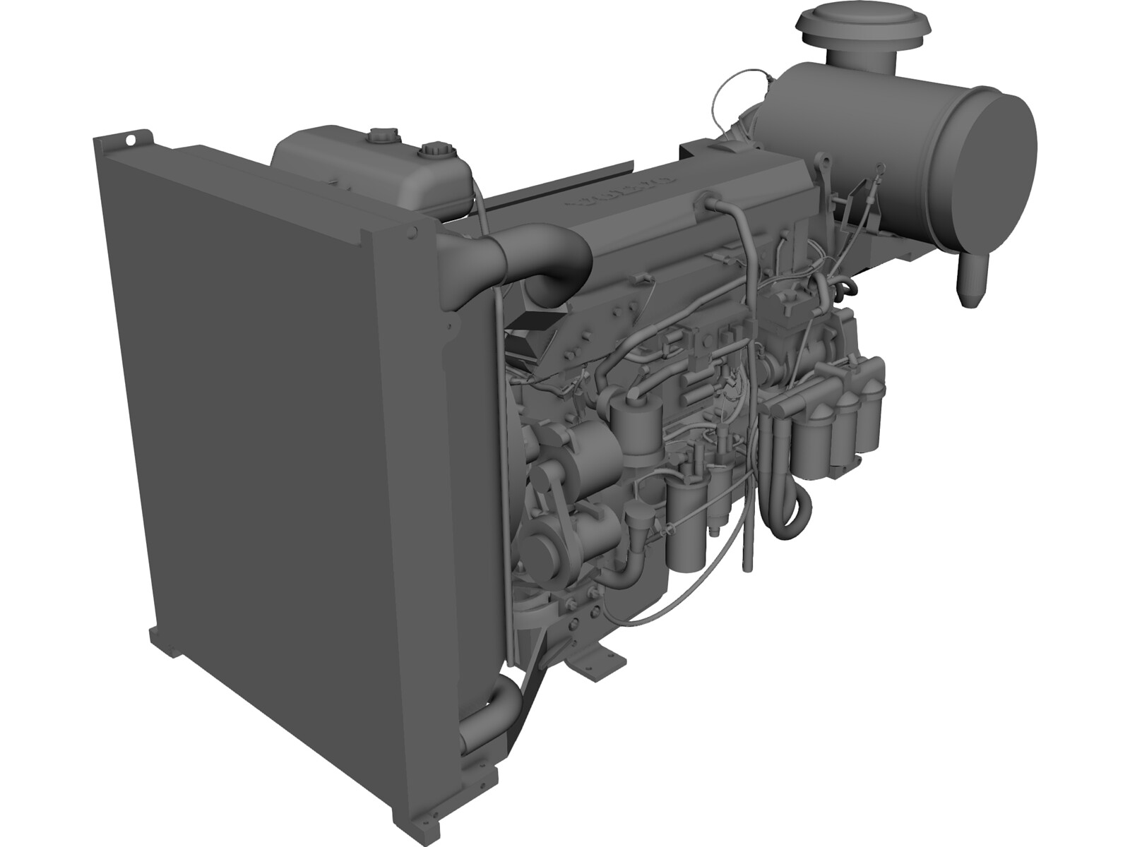 Volvo Penta TAD1362VE Engine 3D CAD Model