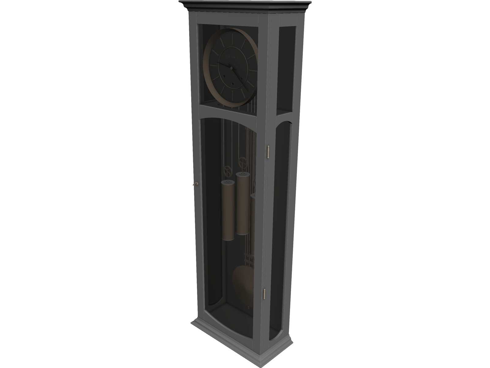 Long Case Clock 3D Model