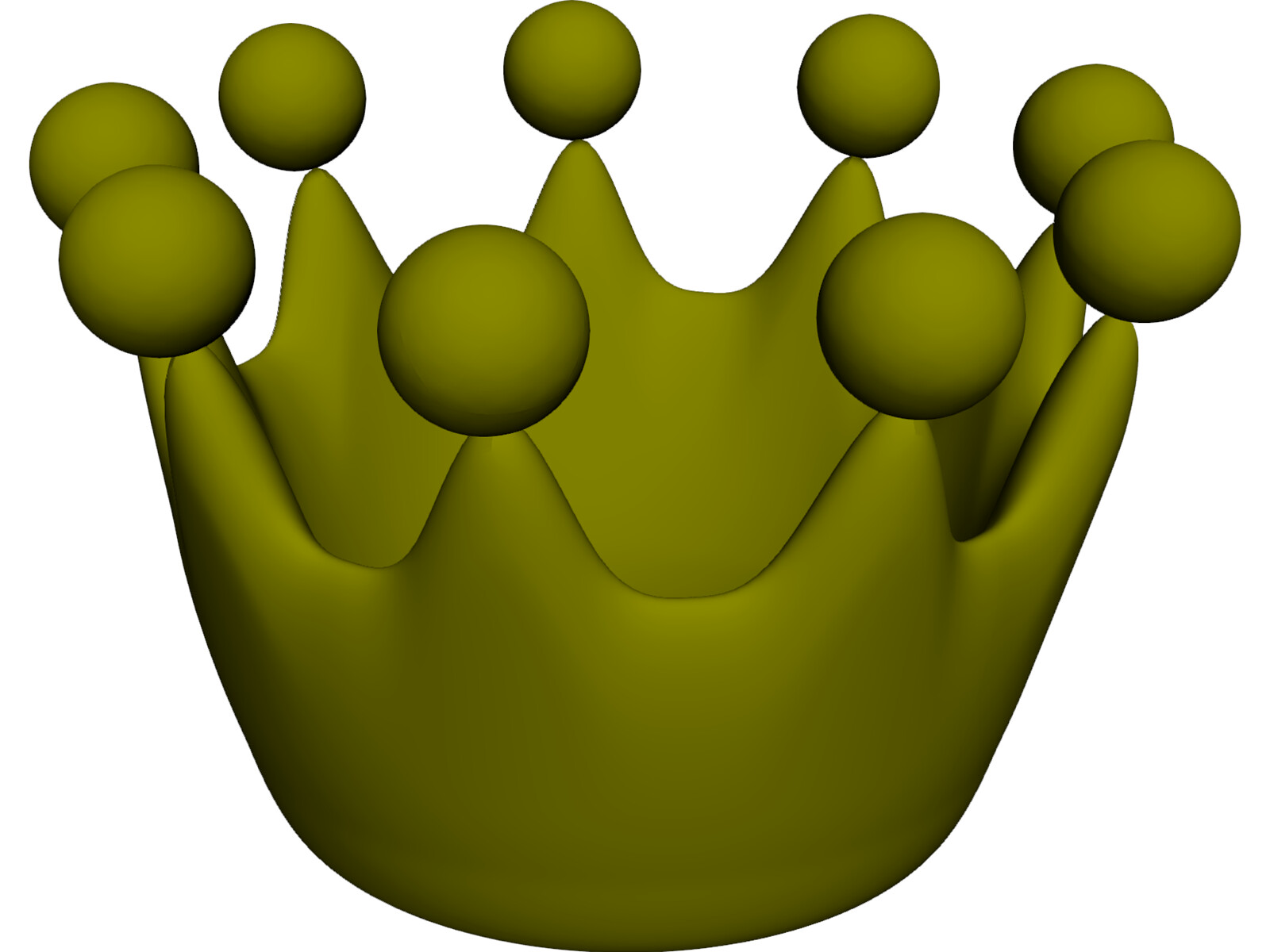 Cartoon Crown 3D Model