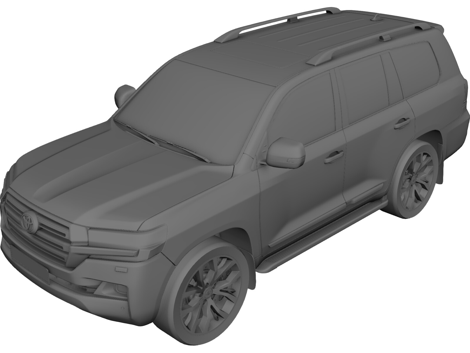 Toyota Land Cruiser 200 (2016) 3D Model