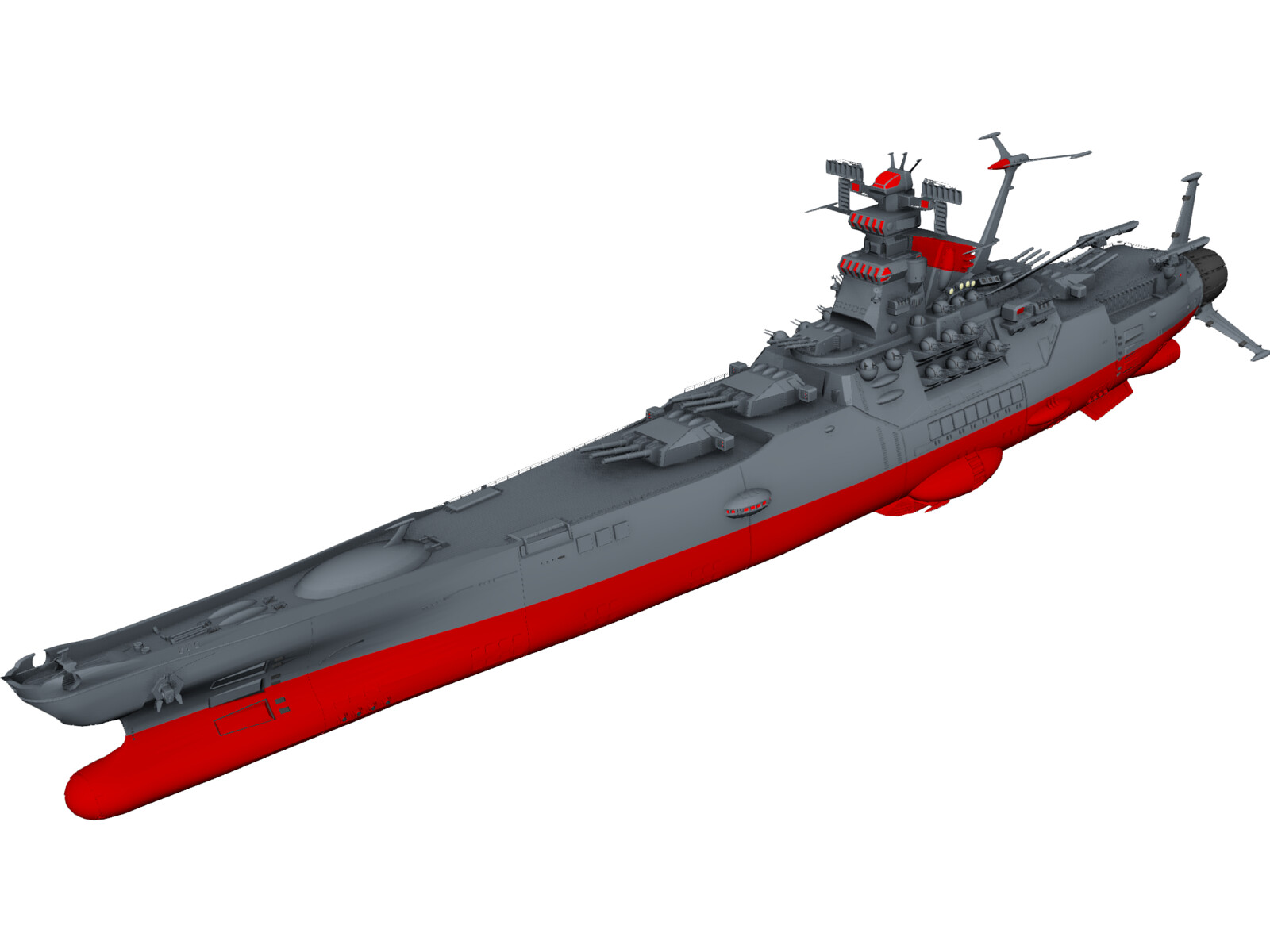 Space Battleship Yamato 3D Model - 3D CAD Browser