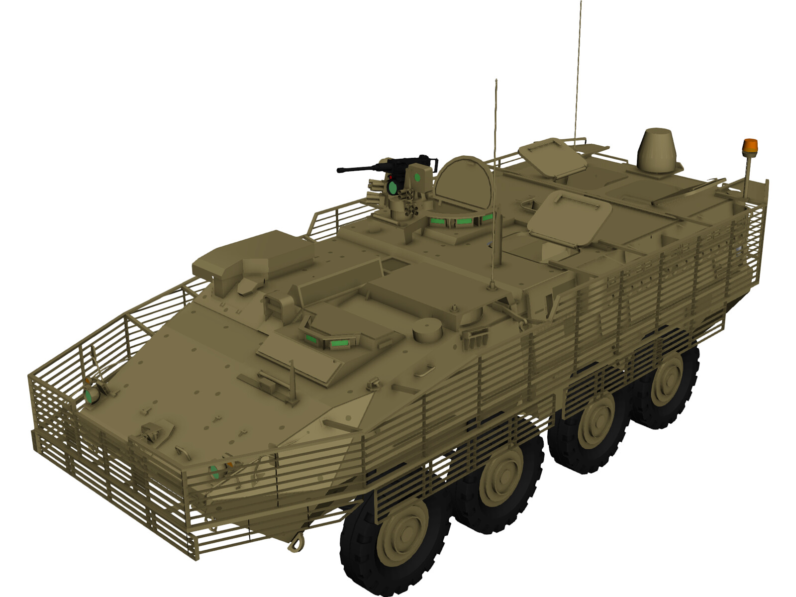 Stryker M1130 Command Vehicle 3D Model
