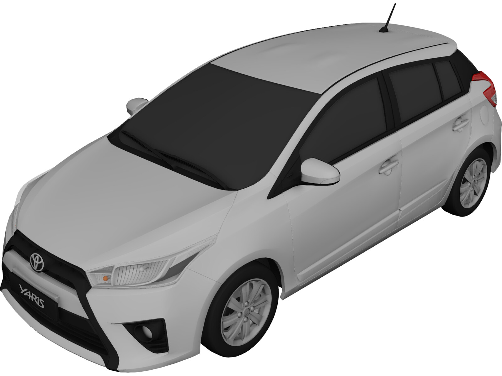Toyota Yaris 2016 3d Model 3d Cad Browser