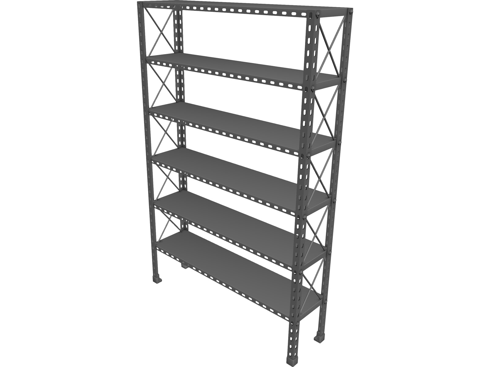 Metal Shelf 3D Model