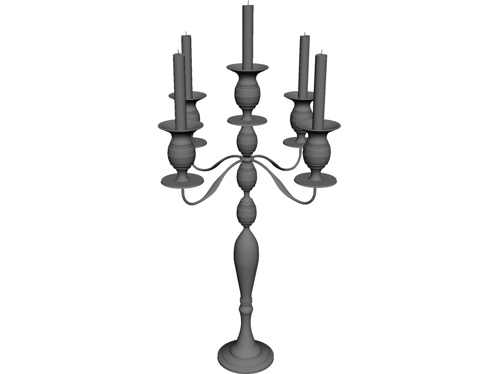 Candle Stick Classic 3D Model