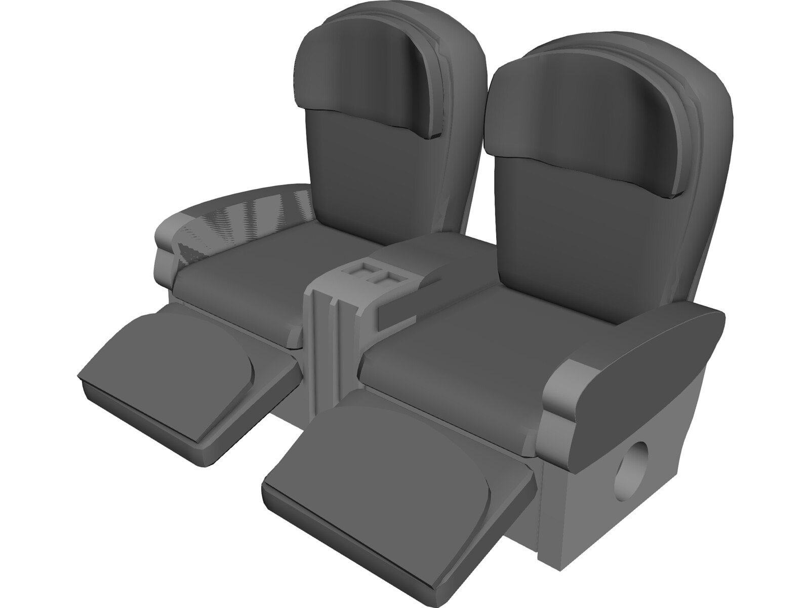 seats airplane 3d model 3d cad browser. Black Bedroom Furniture Sets. Home Design Ideas