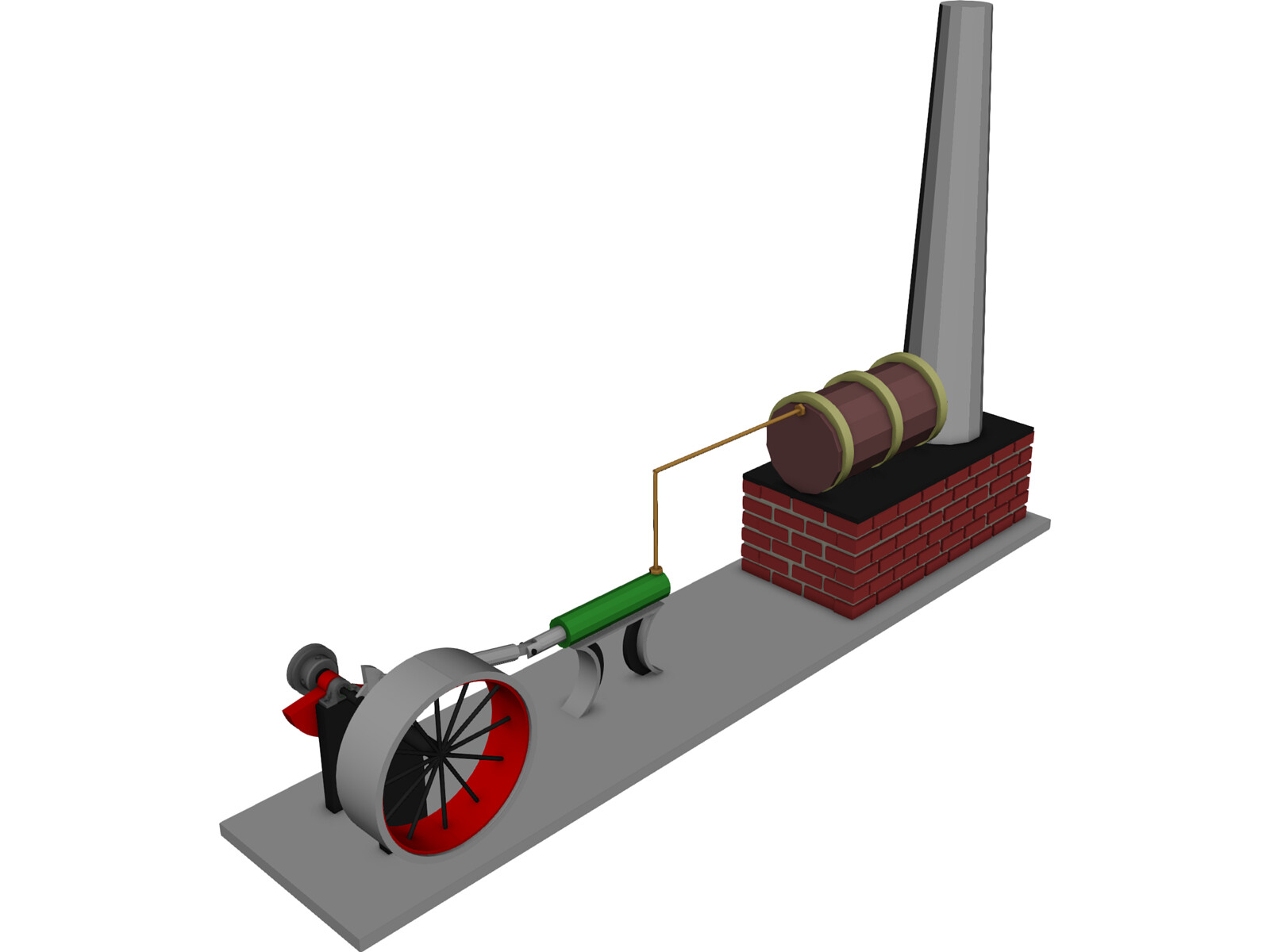 Wilesco Steam Engine 3D Model - 3D CAD Browser