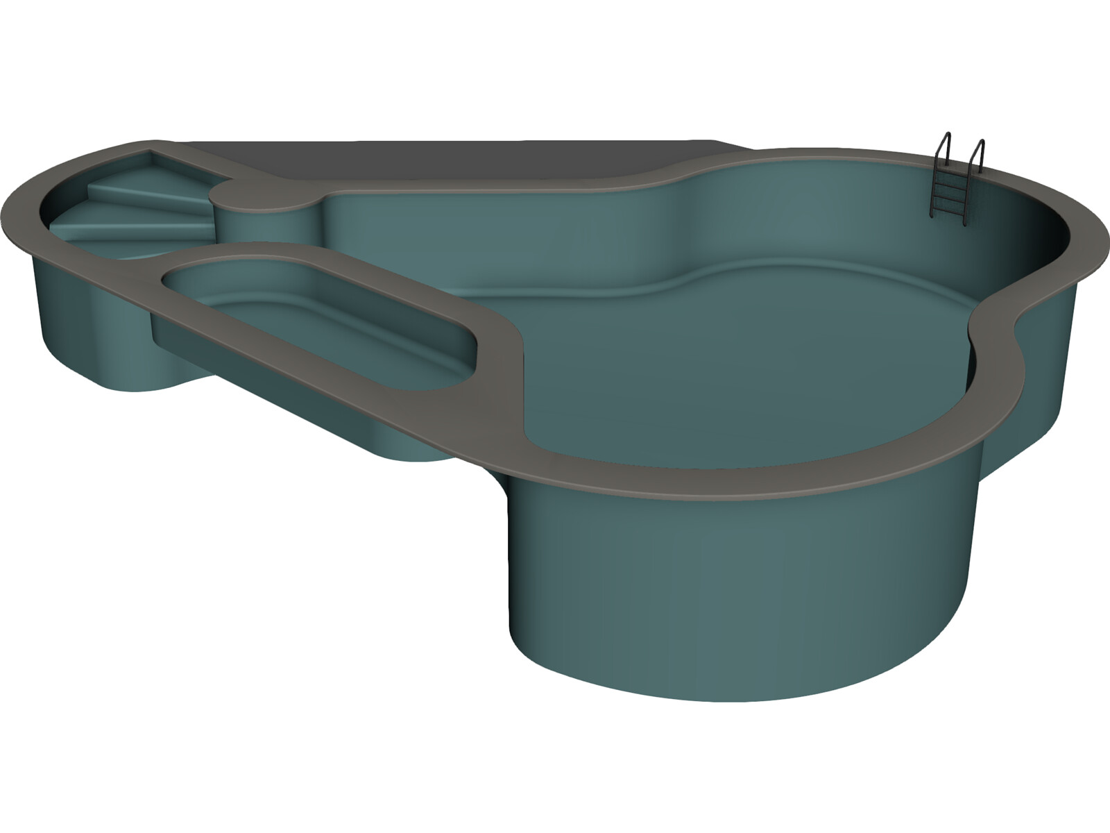 Swimming Pool 3d Model 3d Cad Browser