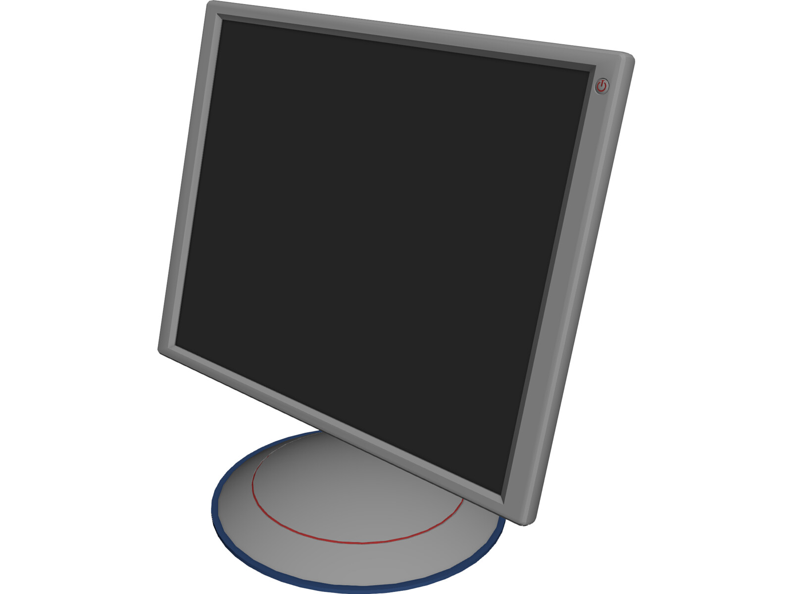 TFT LCD Monitor 3D Model