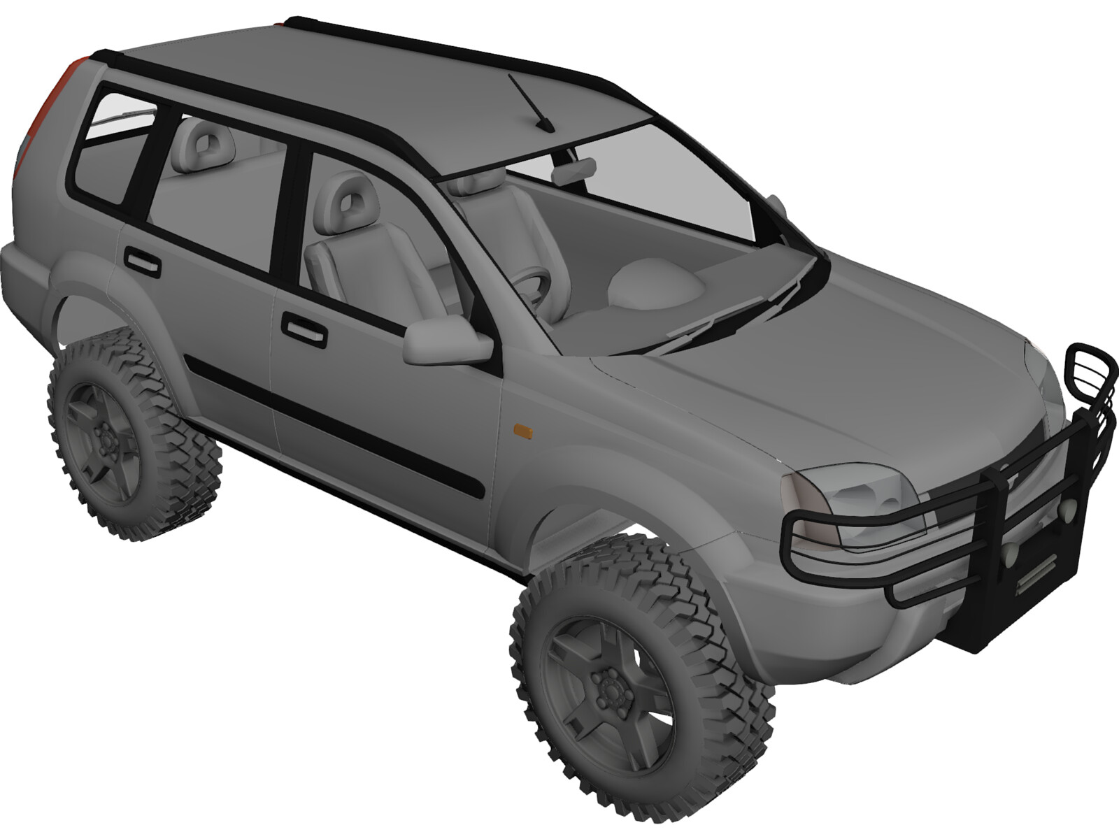 Nissan X Trail 4x4 Tuned 3d Model 3d Cad Browser
