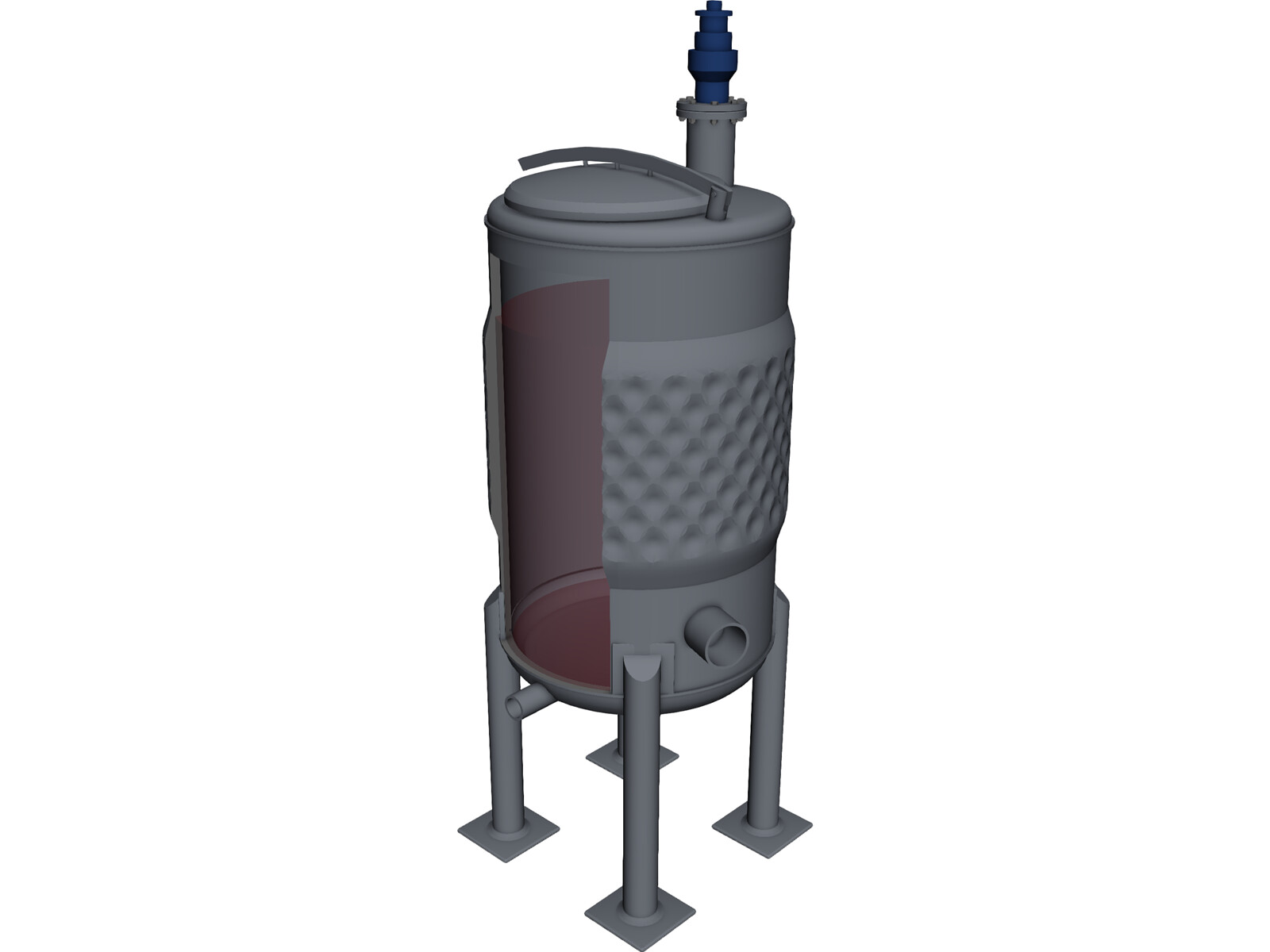 Gas Lift Operation Animation : Wine fermenter d model cad browser