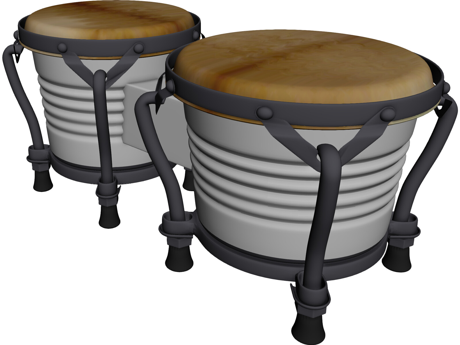 Bongos Pair 3D Model