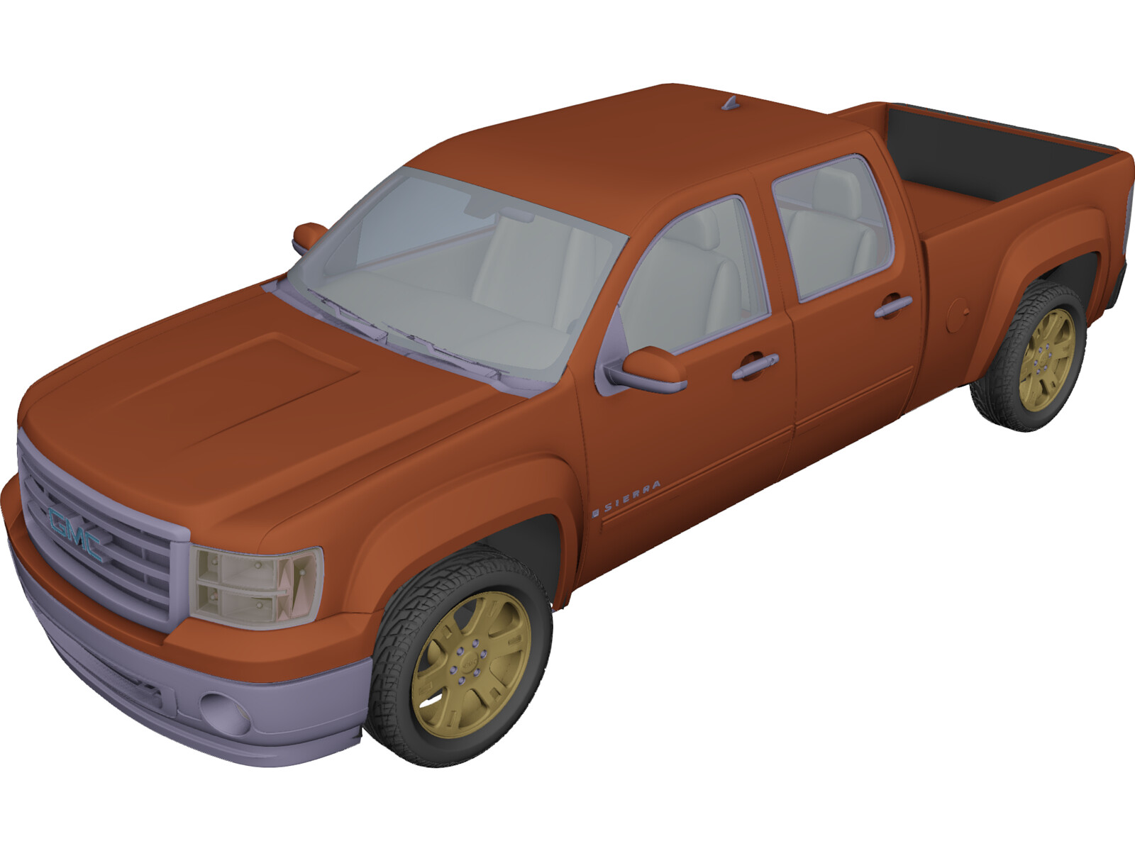 GMC Sierra Crew Cab (2013) 3D Model