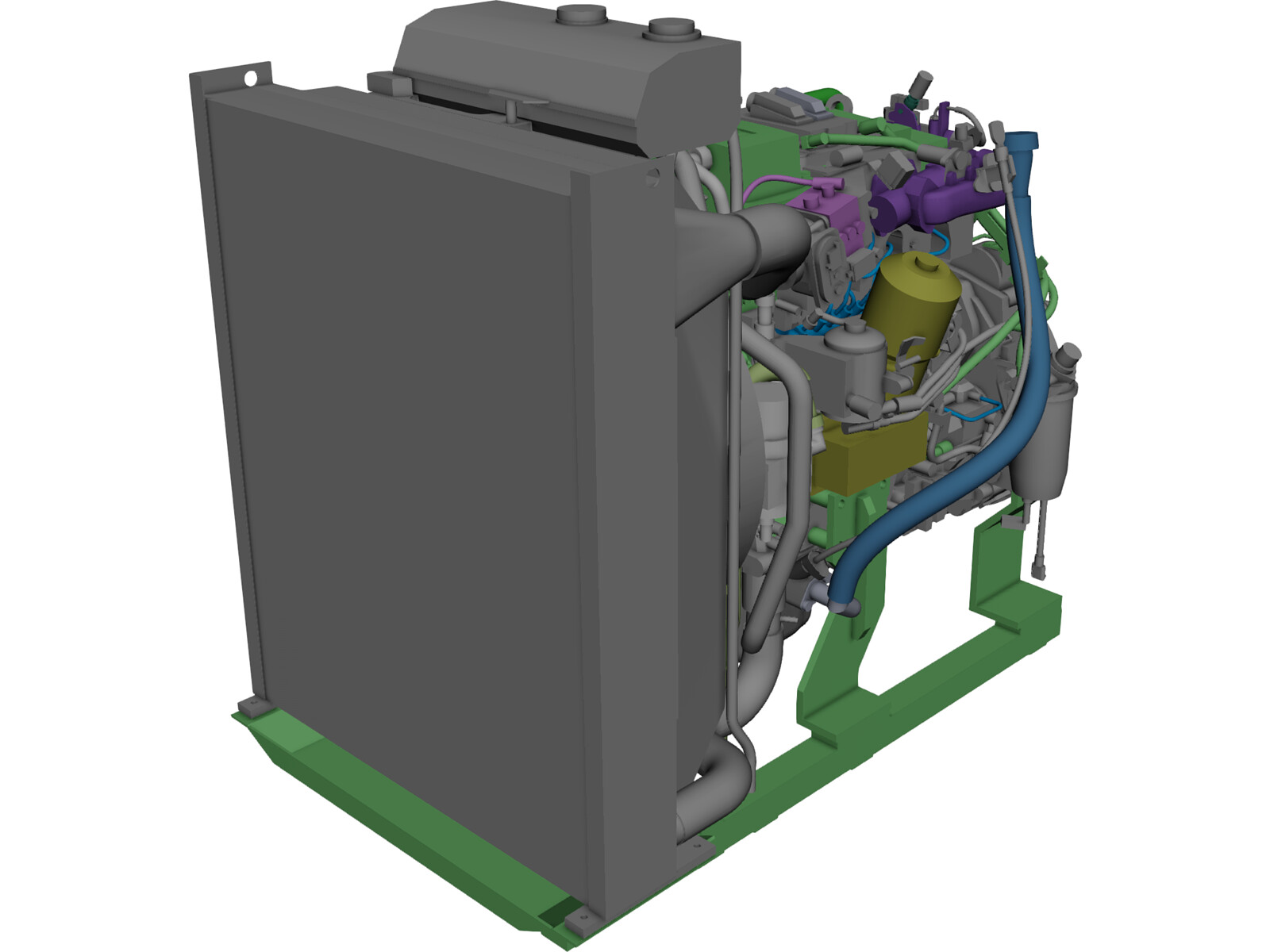 Volvo TAD570VE Engine 3D Model