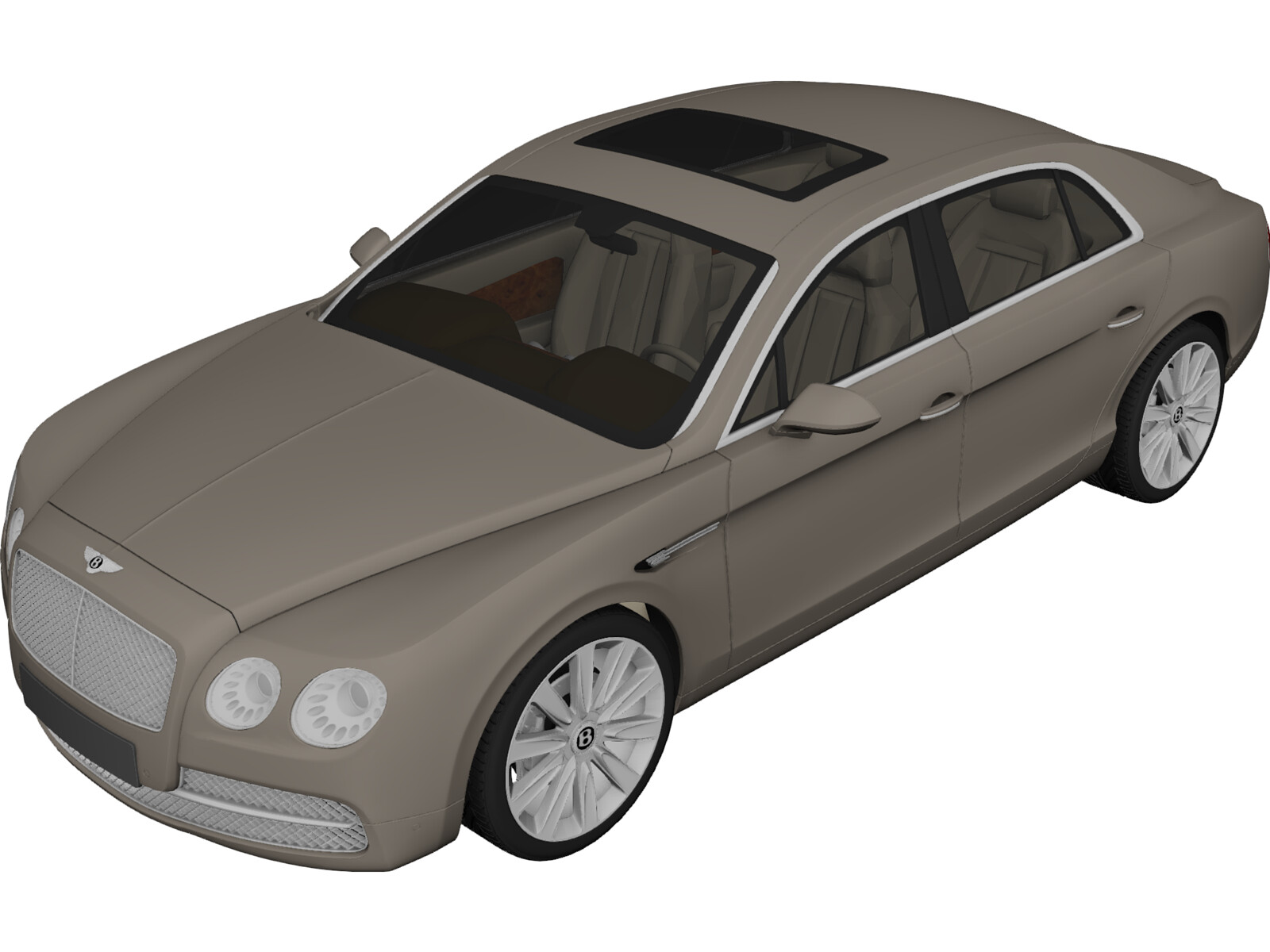 Bentley Continental Flying Spur (2014) 3D Model