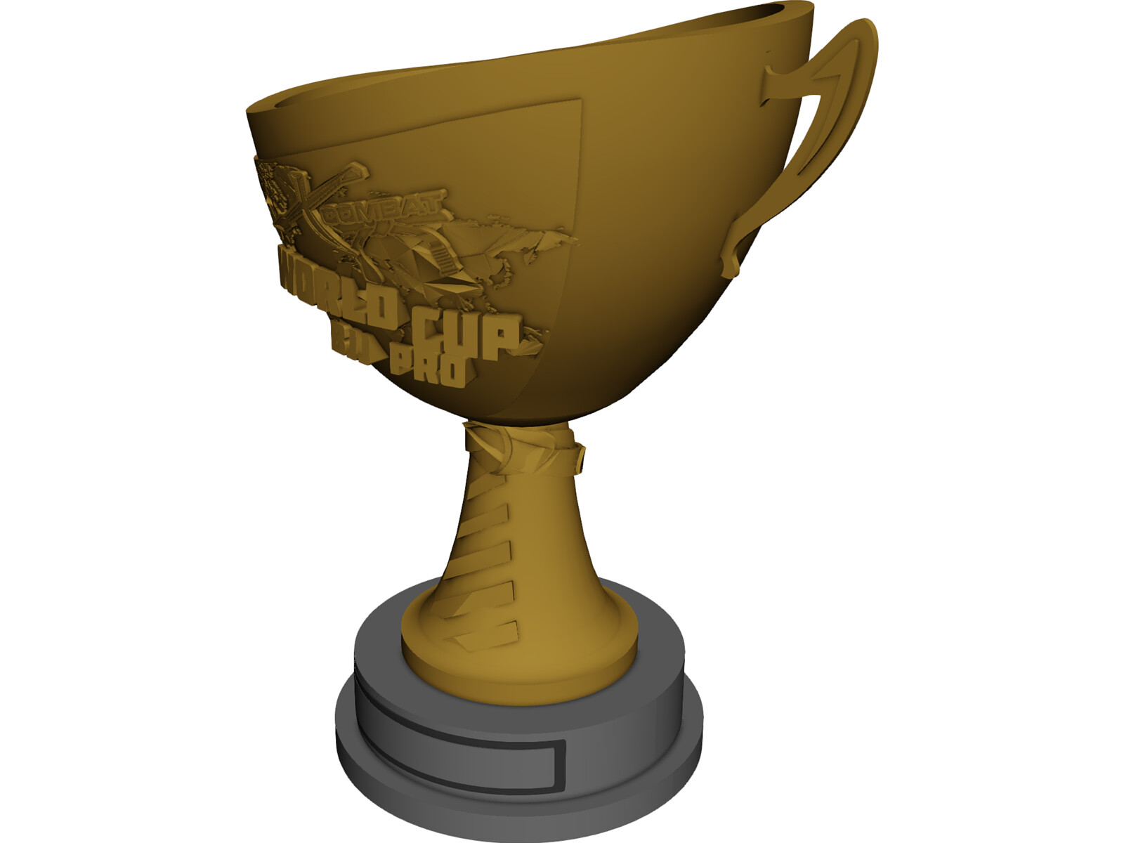 BJJ World Cup Trophy 3D Model