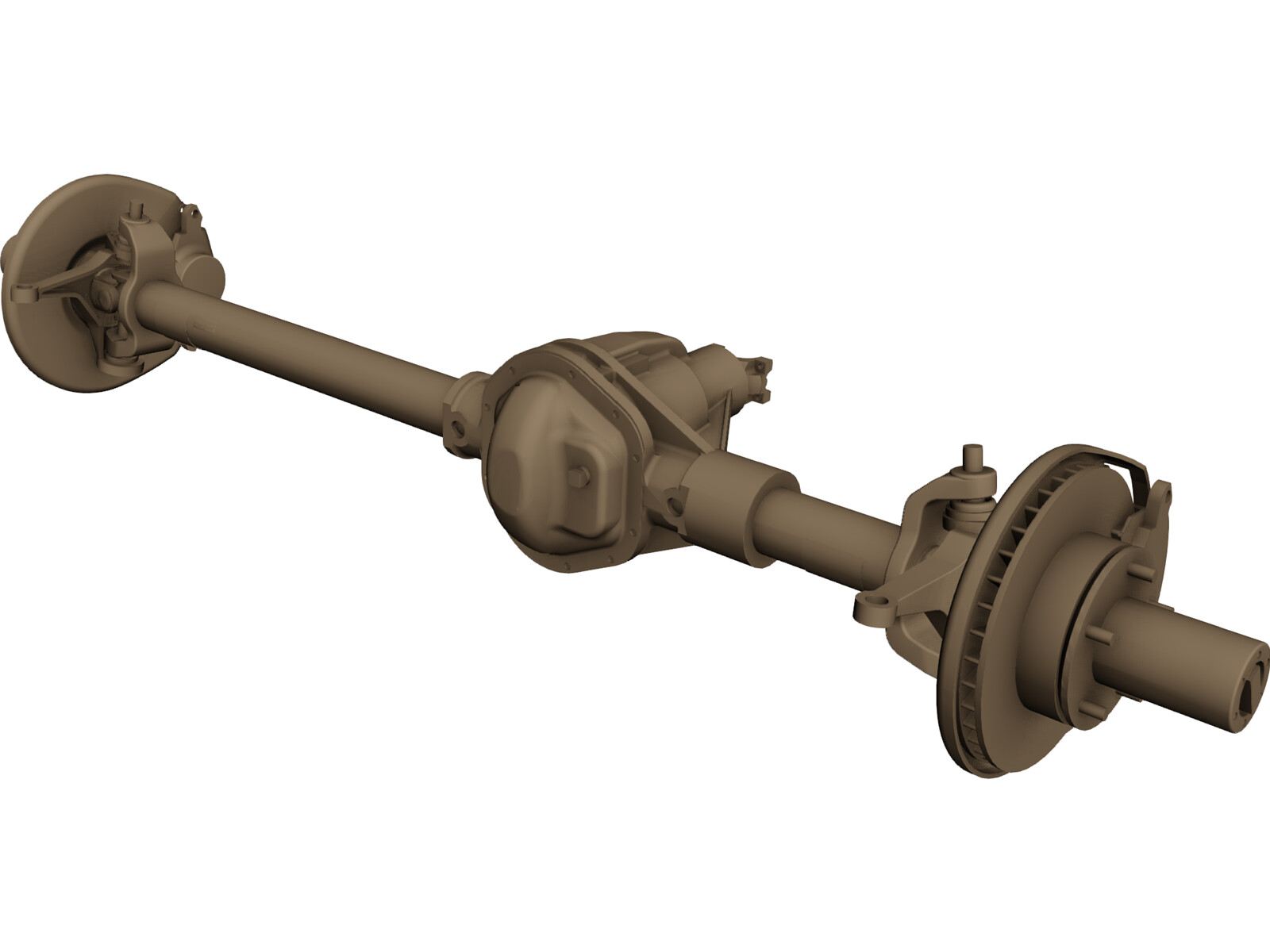 Ford High Pinion Dana 44 Front Axle 3D CAD Model - 3D CAD
