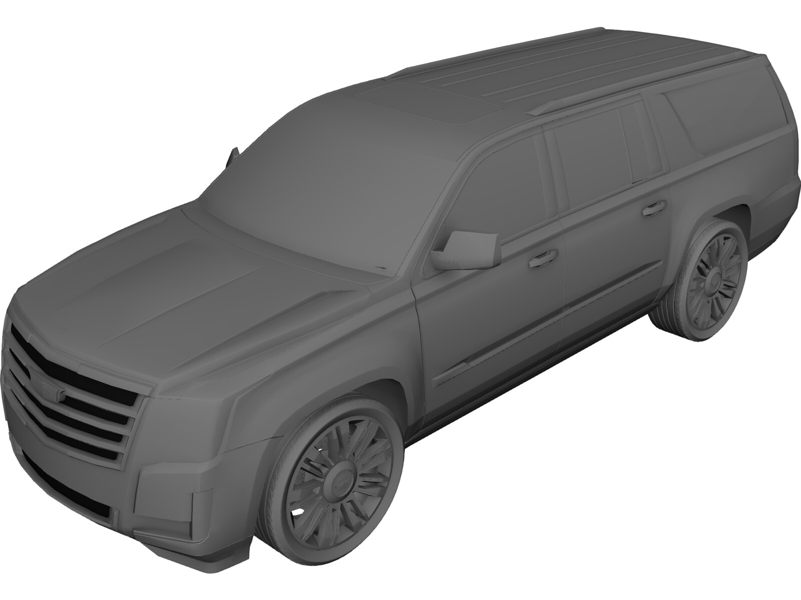 Cadillac Escalade (2017) 3D Model