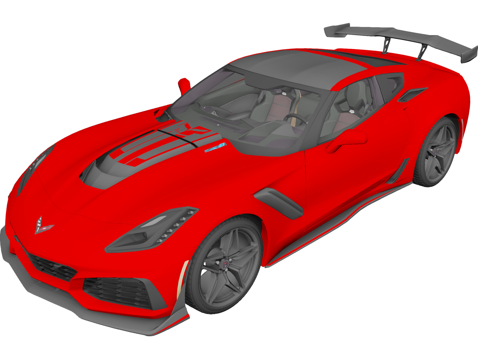Chevrolet Corvette ZR-1 (2019) 3D Model