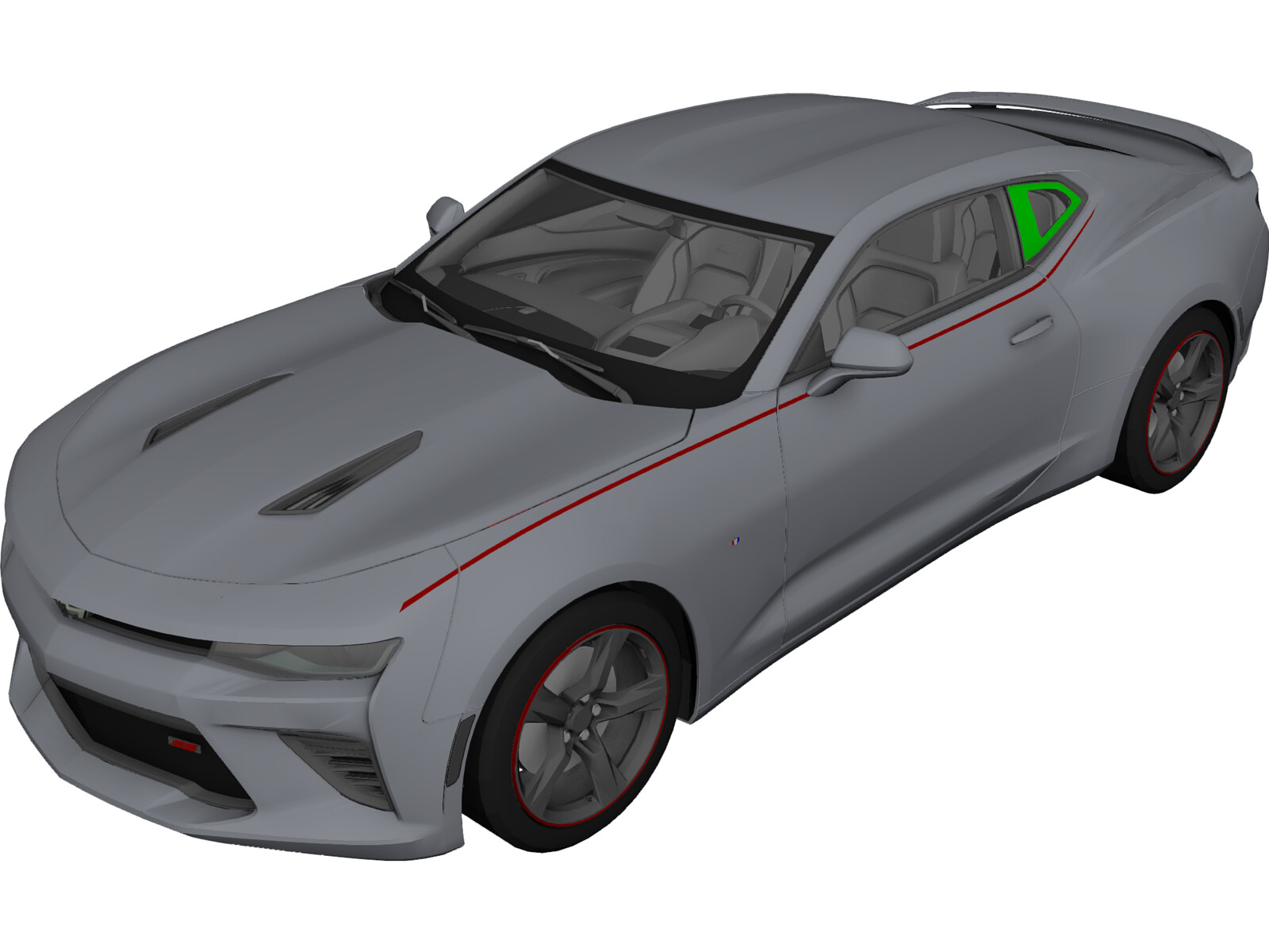 Chevrolet Camaro SS (2016) 3D Model