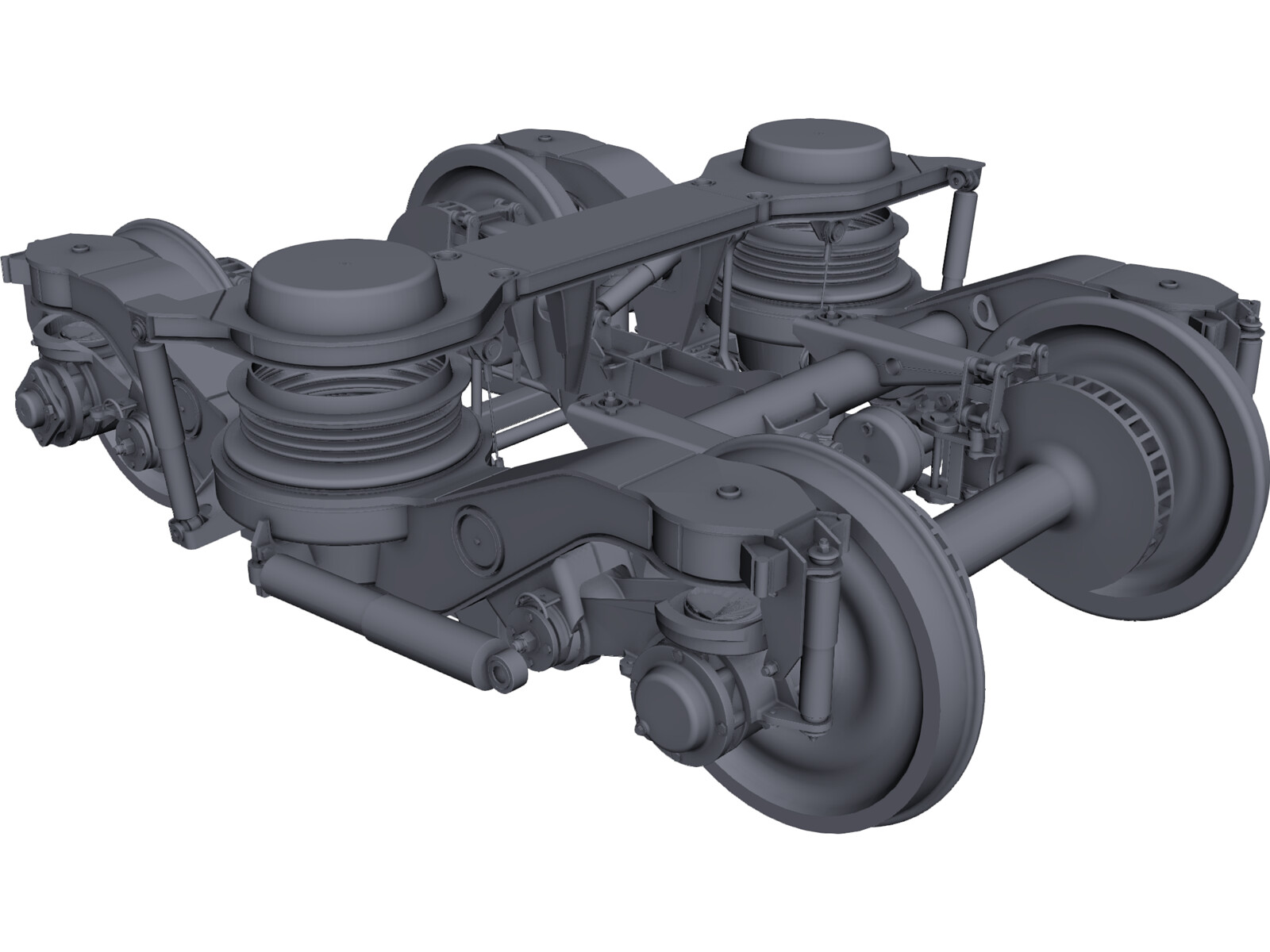 Train Bogie Y32 3D Model