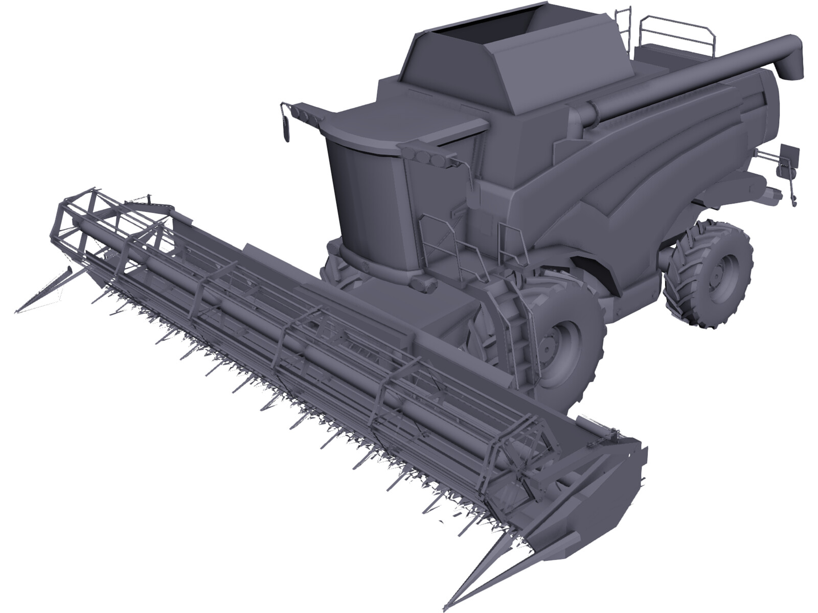 New Holland CX with Cutting JH 3D Model