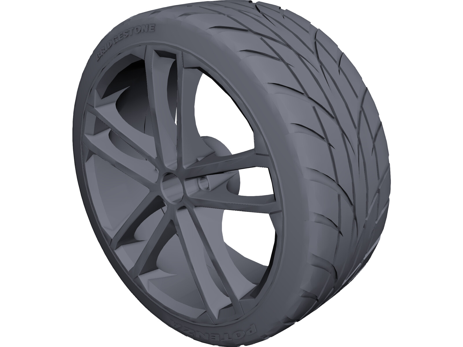 Volkswagen GTD Rims 3D Model
