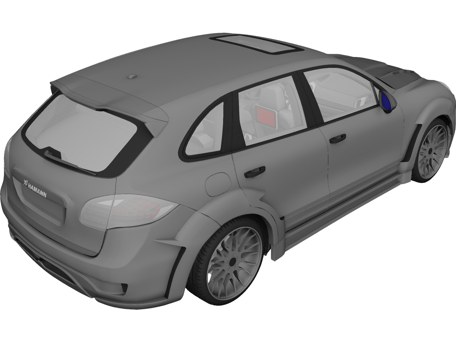 Porsche Cayenne Turbo Hamann (2010) 3D Model