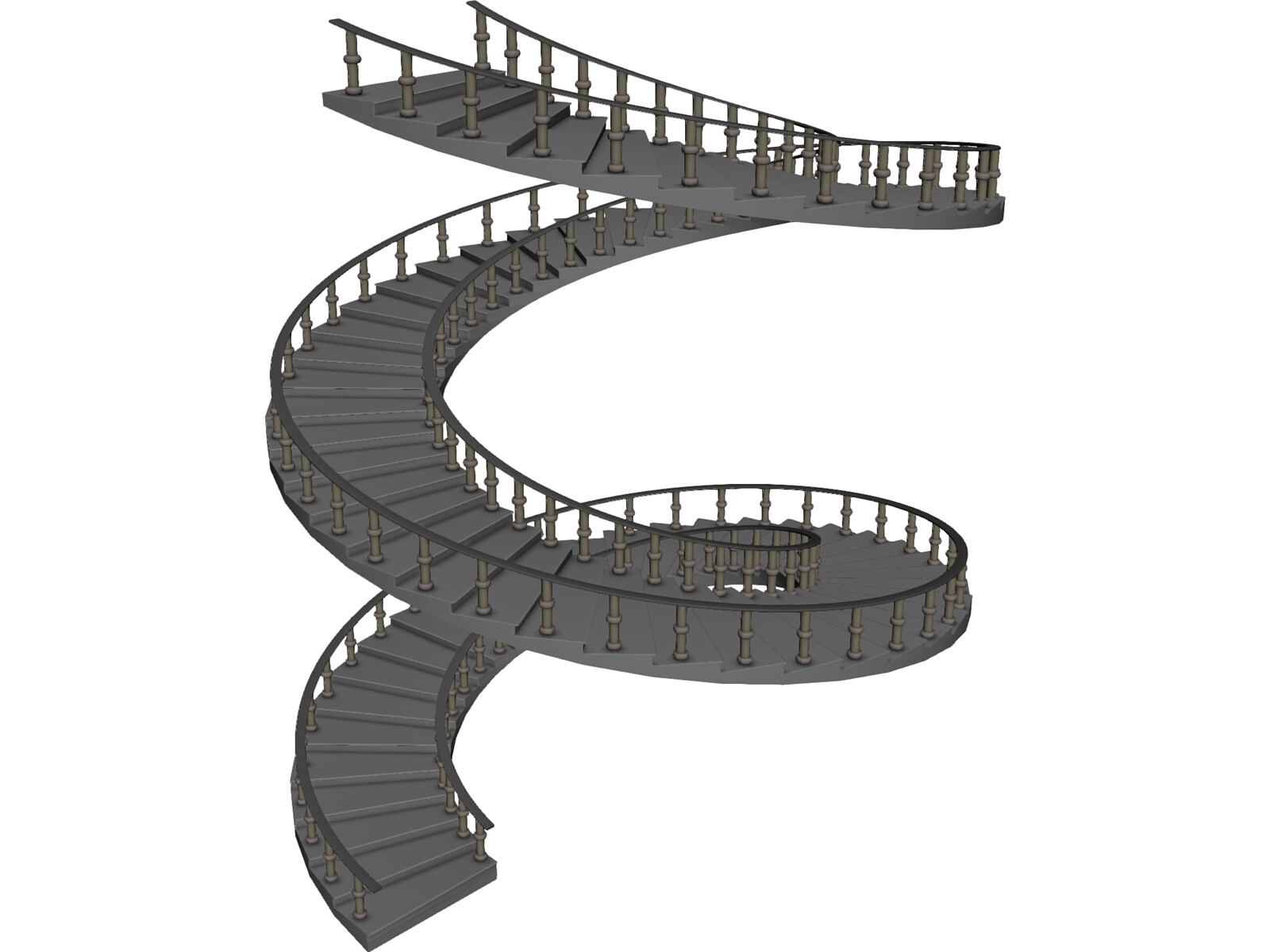 Spiral staircase 3d model 3d cad browser Spiral stair cad