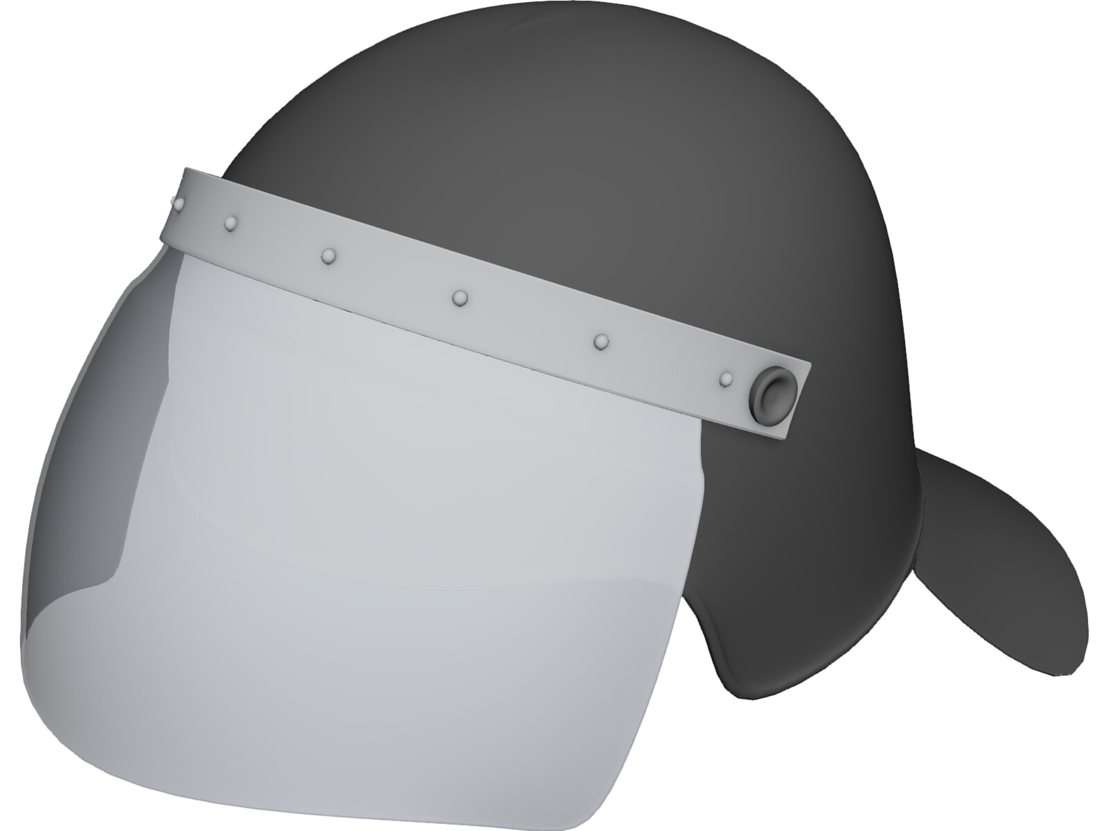 Anti-Riot Police Helmet 3D Model
