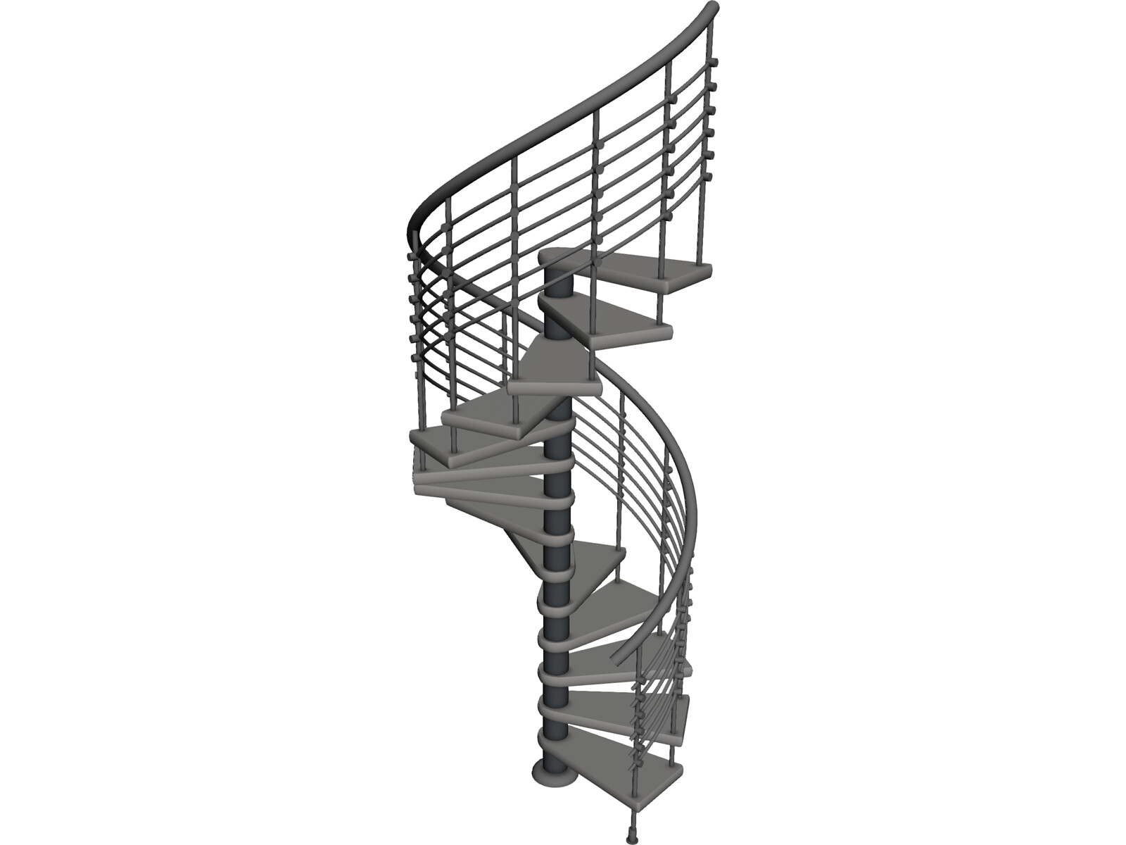 Spiral Staircase Autocad