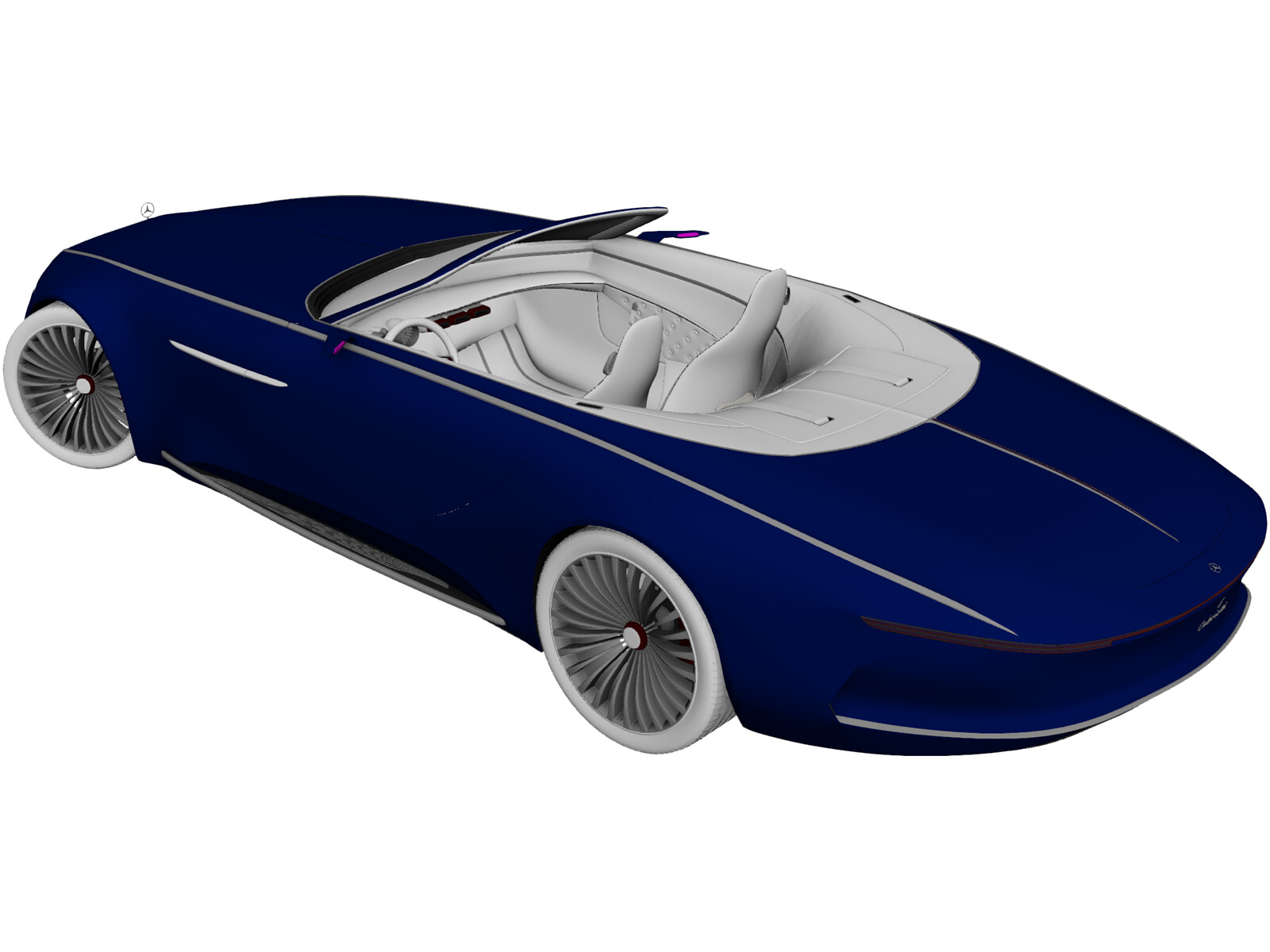 Mercedes-Maybach Vision 6 Cabriolet (2018) 3D Model