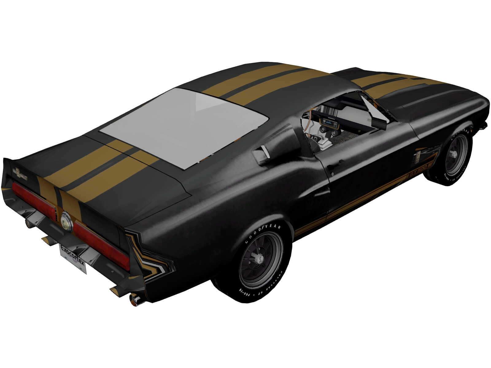 Ford Mustang Shelby GT500 (1967) 3D Model - 3D CAD Browser