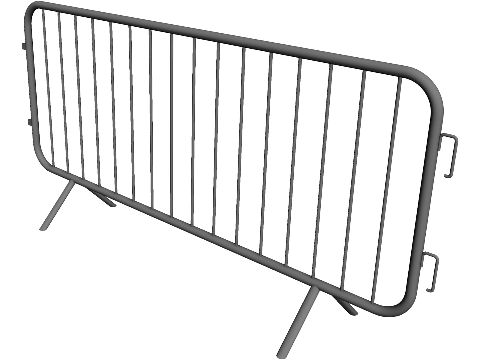Crowd Control Barrier 3D Model